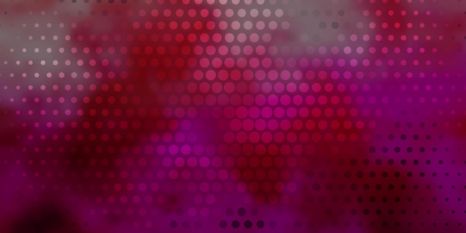 dunkelrosa Vektorbeschaffenheit mit Kreisen. vektor