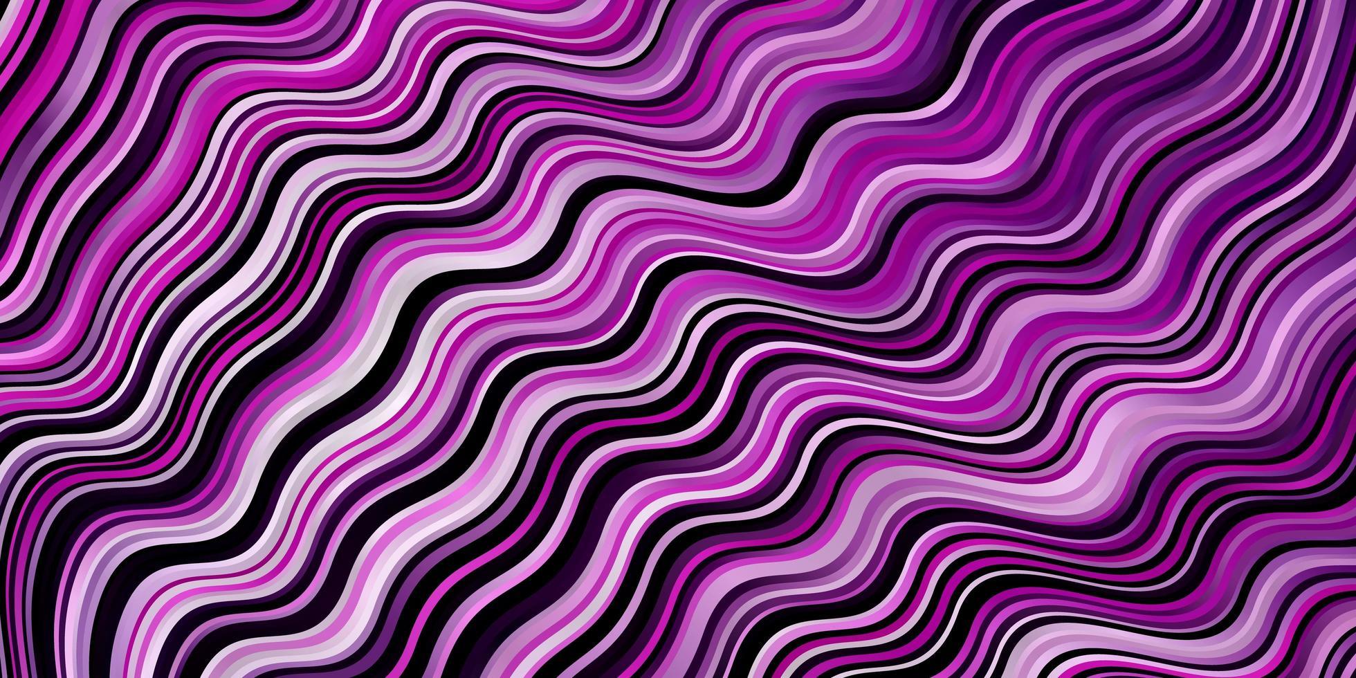 hellviolette Vektorschablone mit Linien. vektor