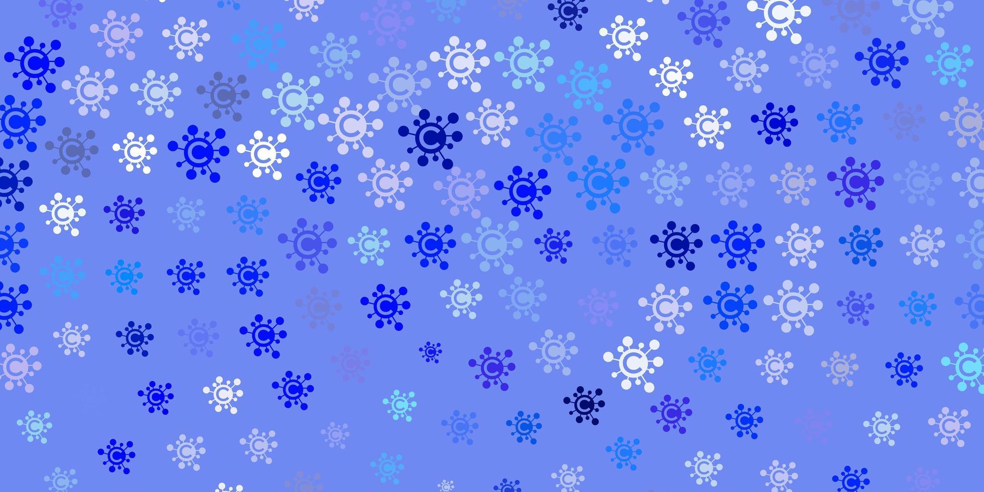 hellblaue Vektorbeschaffenheit mit Krankheitssymbolen. vektor