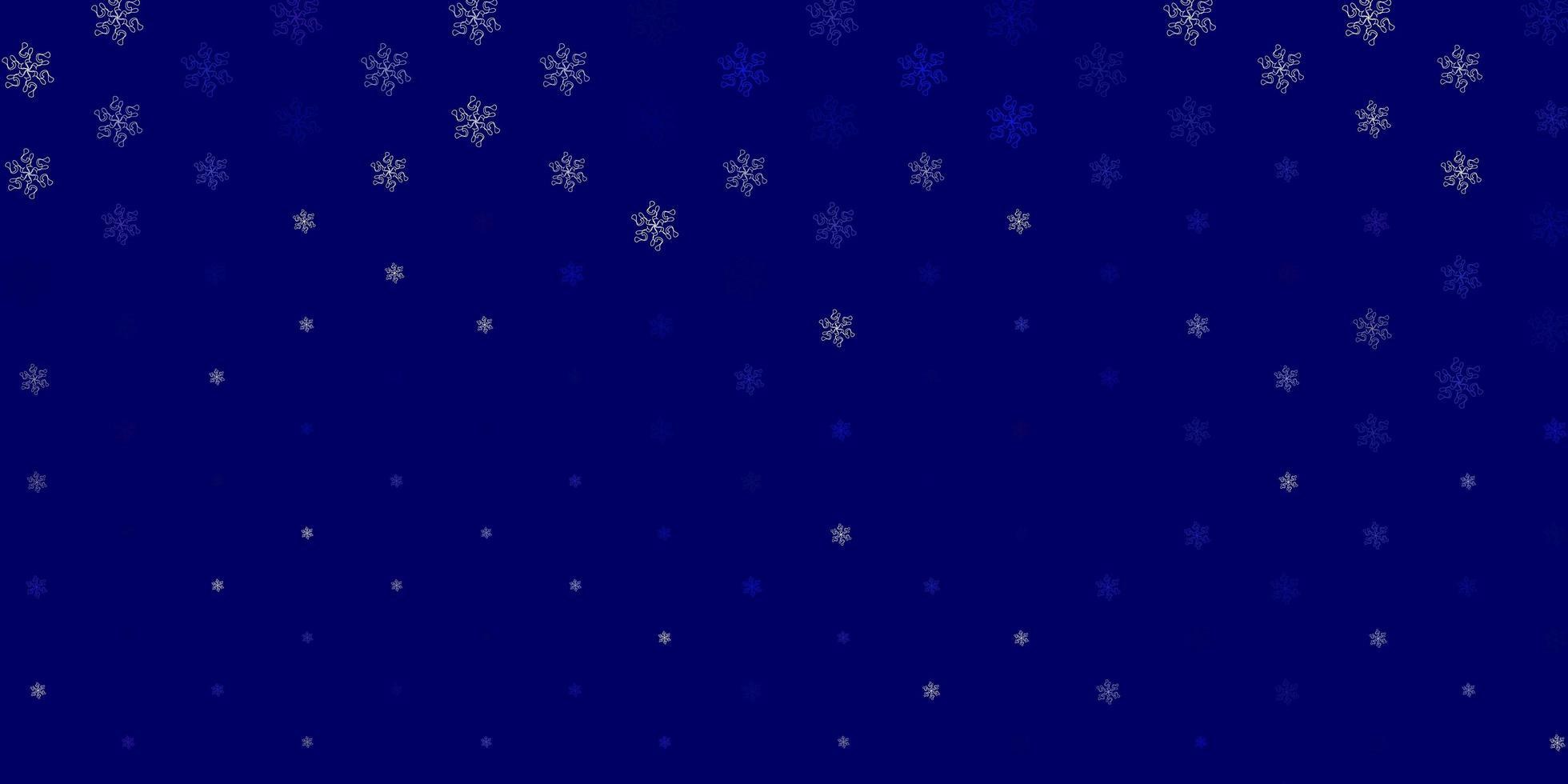 hellblauer Vektor Gekritzelhintergrund mit Blumen.