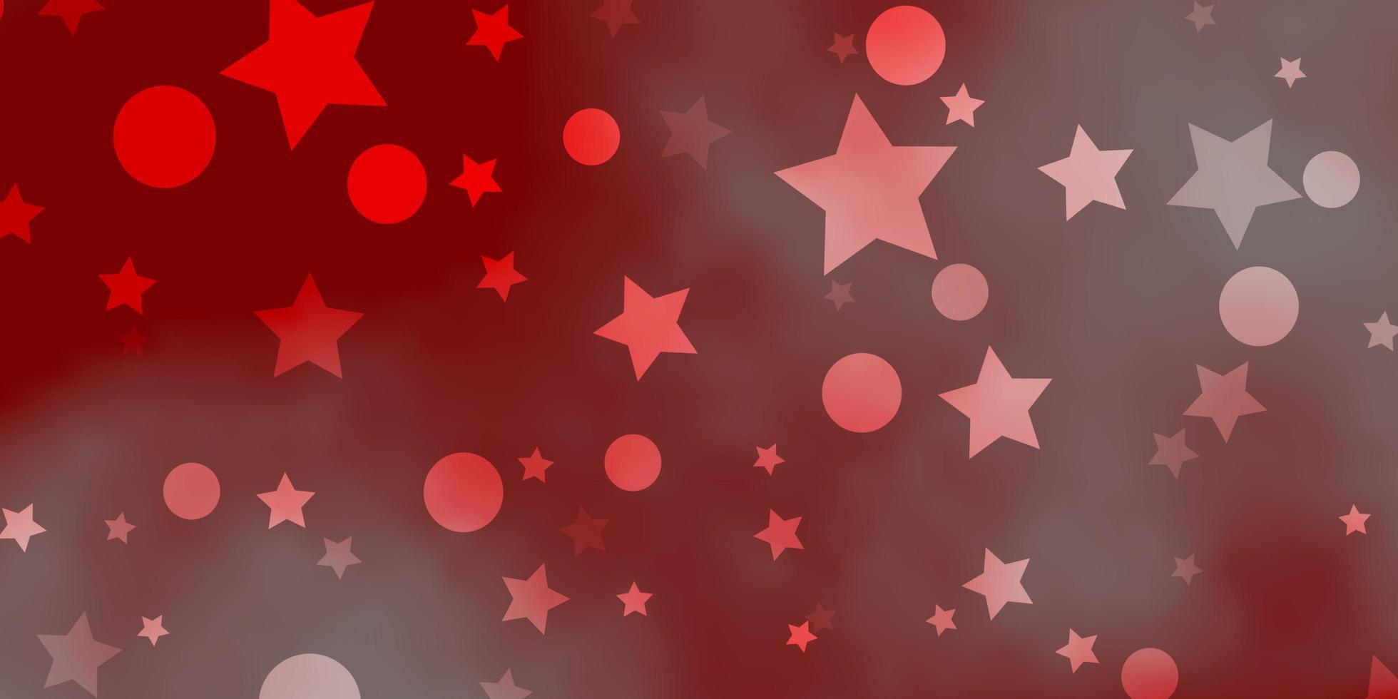 hellrotes Vektorlayout mit Kreisen, Sternen. vektor