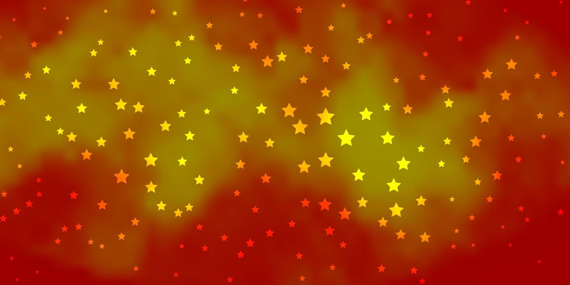dunkelorange Vektormuster mit abstrakten Sternen. vektor