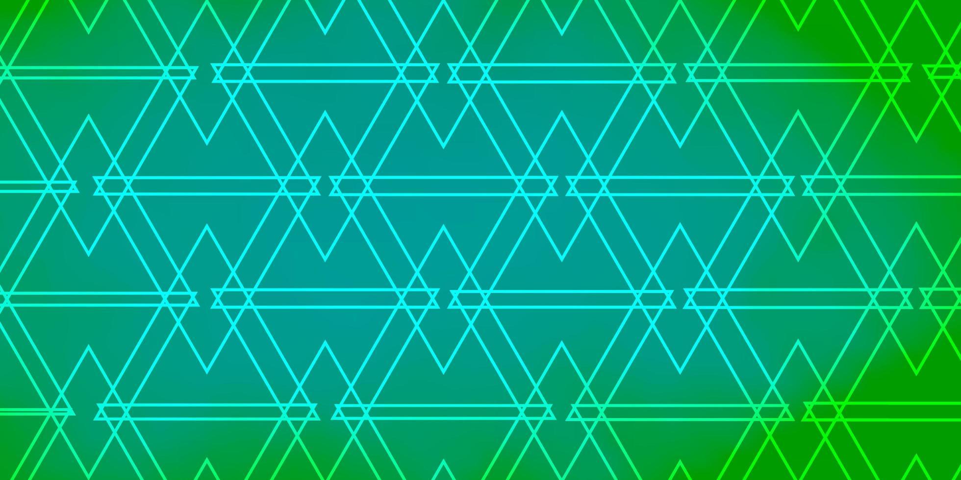 hellgrüner Vektorhintergrund mit Dreiecken. vektor
