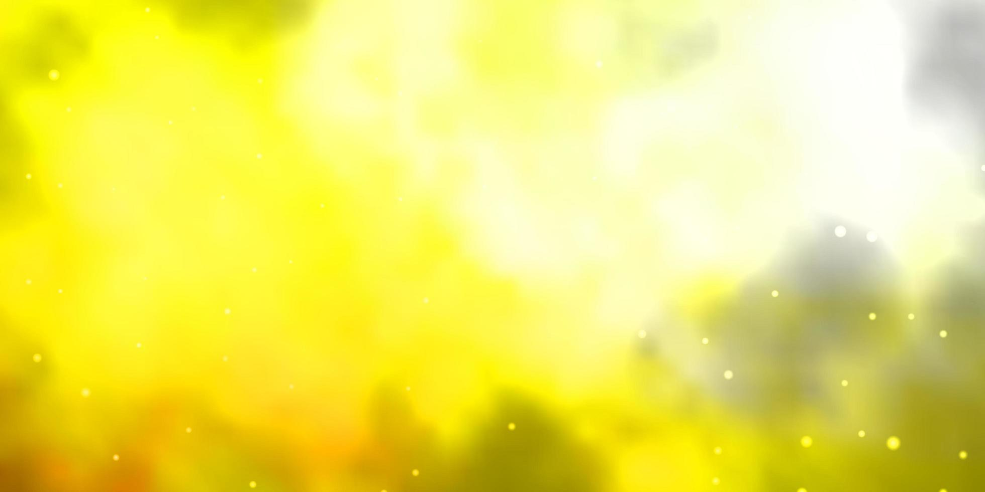 ljusröd, gul vektorlayout med ljusa stjärnor. vektor