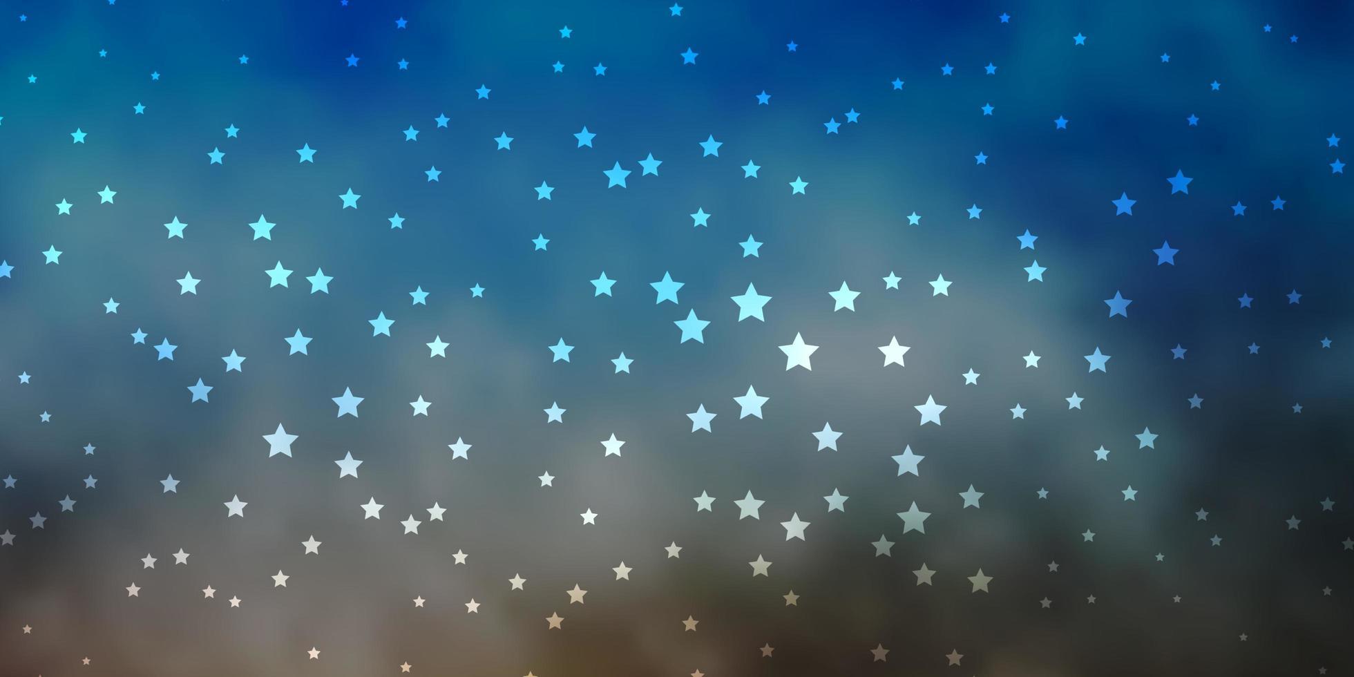 dunkelblaue, gelbe Vektorbeschaffenheit mit schönen Sternen. vektor