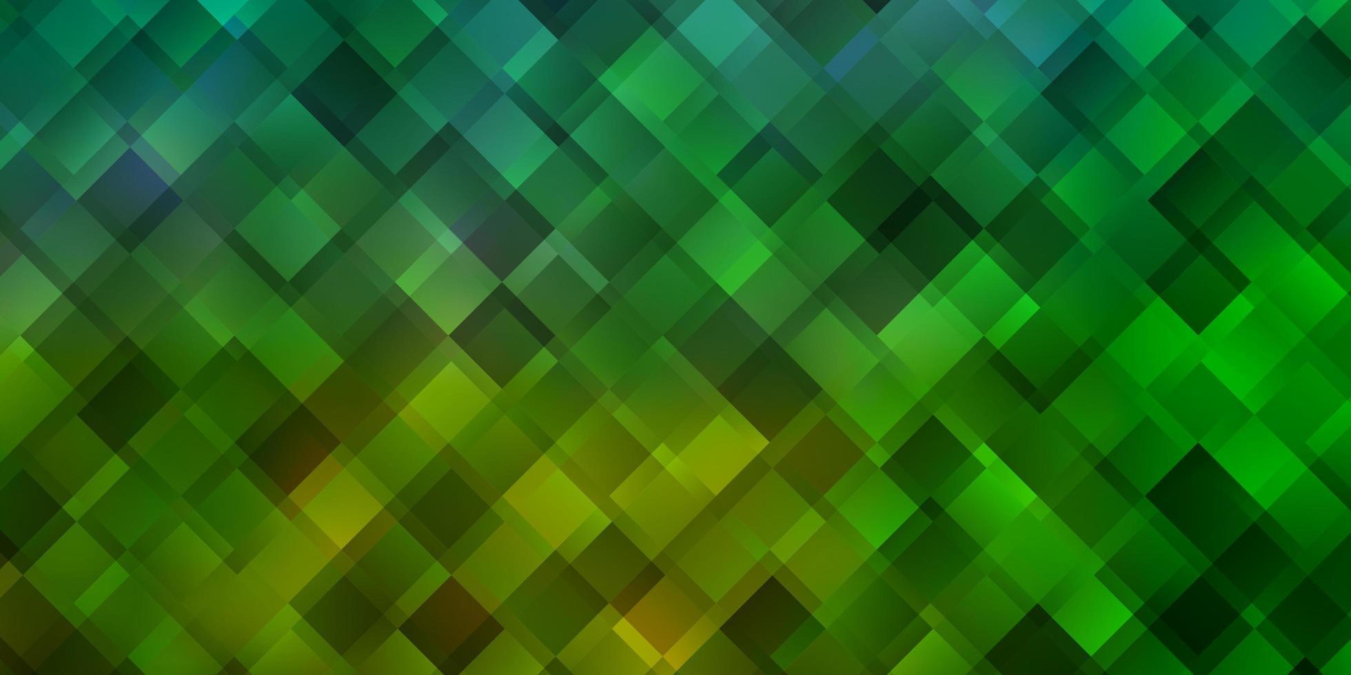 hellgrünes Vektormuster im quadratischen Stil. vektor
