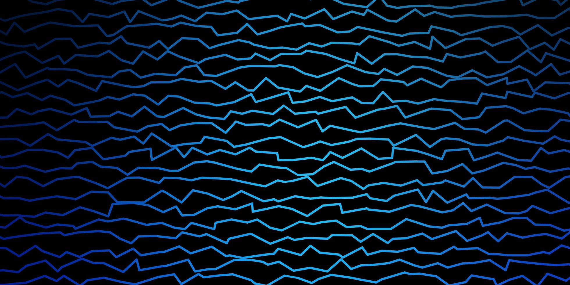 dunkelblaue Vektortextur mit Kurven vektor