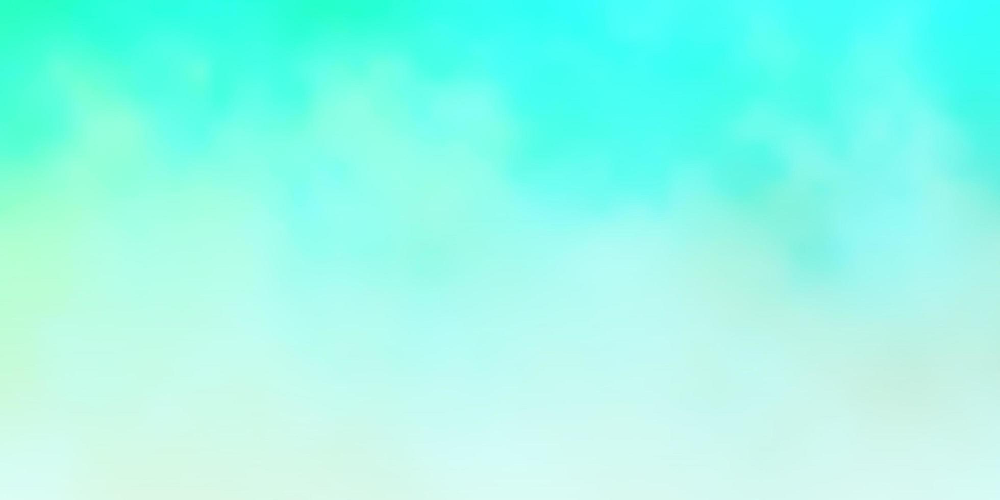 hellgrünes Vektorlayout mit Wolkenlandschaft. vektor