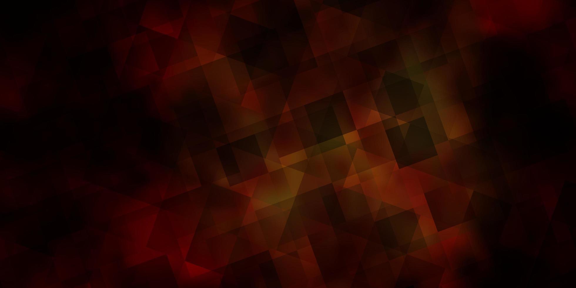 dunkelgelbe Vektorschablone mit Kristallen, Dreiecken. vektor