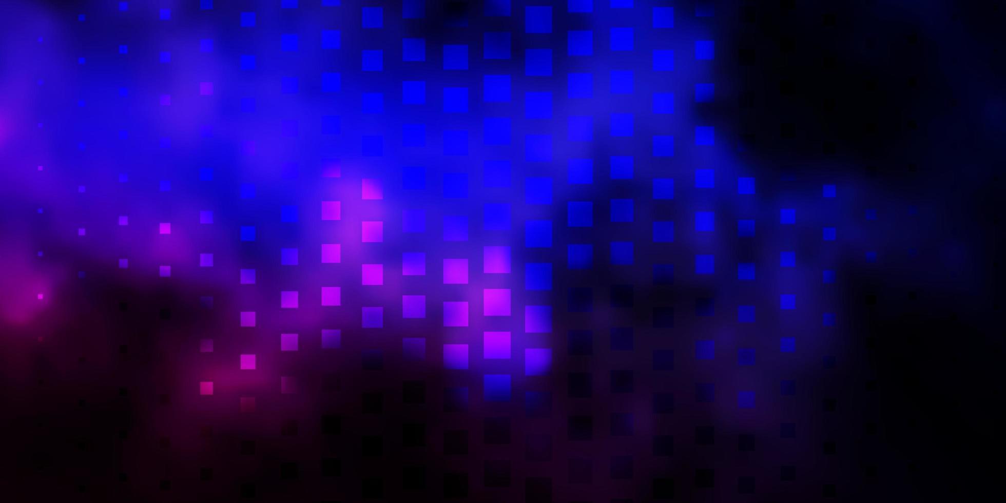 dunkelrosa, blauer Vektorhintergrund im polygonalen Stil. vektor
