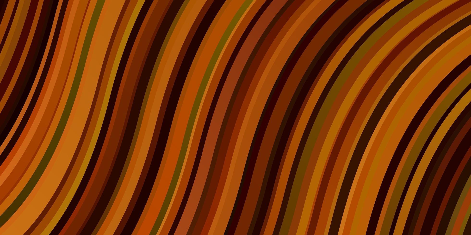 hellrotes, gelbes Vektorlayout mit Kurven. vektor