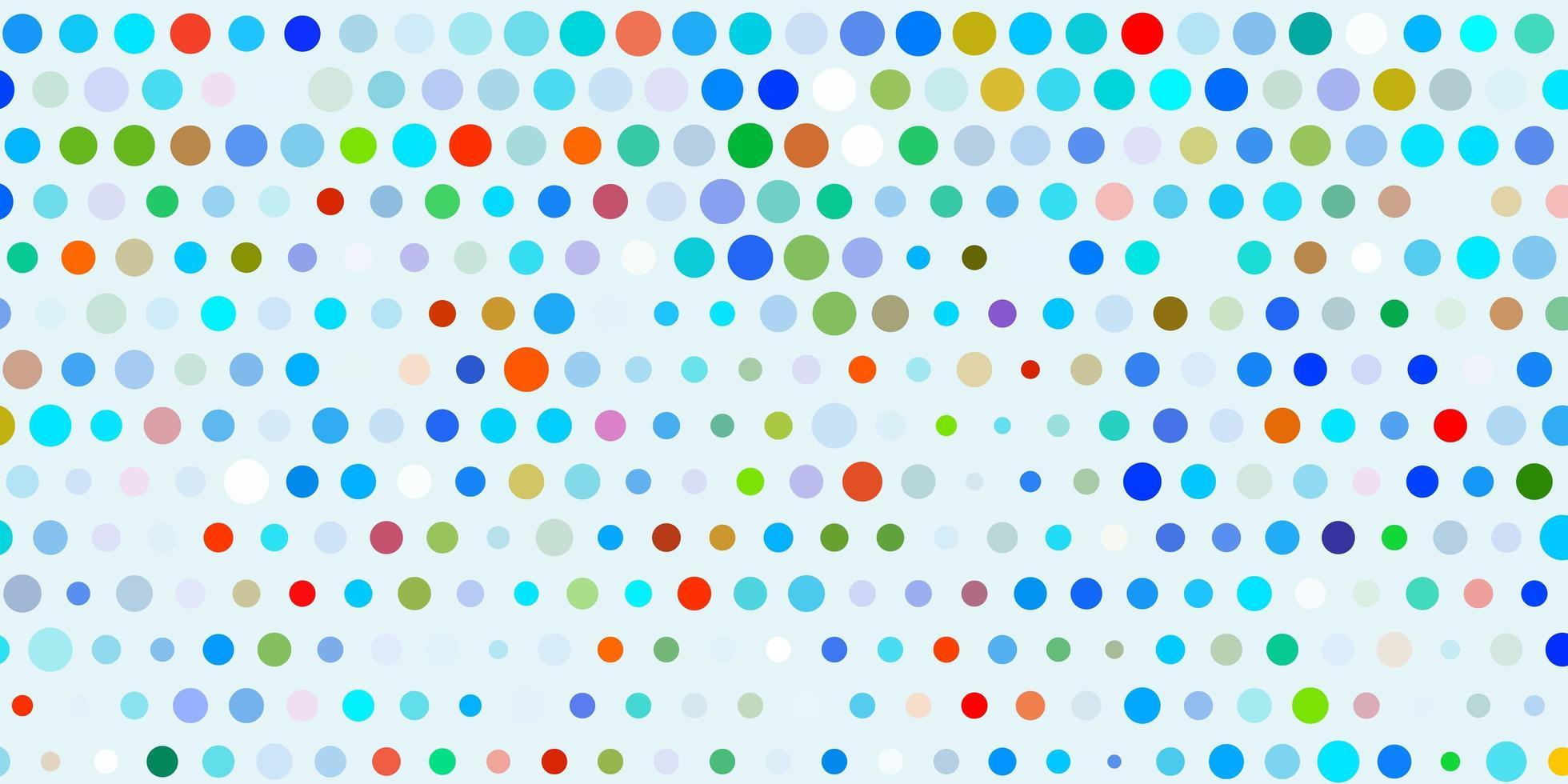 leichte mehrfarbige Vektorschablone mit Kreisen. vektor