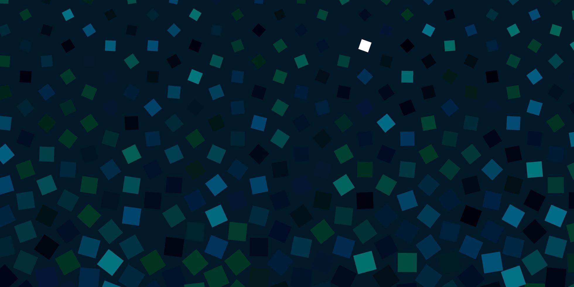 dunkelblaues, grünes Vektorlayout mit Linien, Rechtecken. vektor
