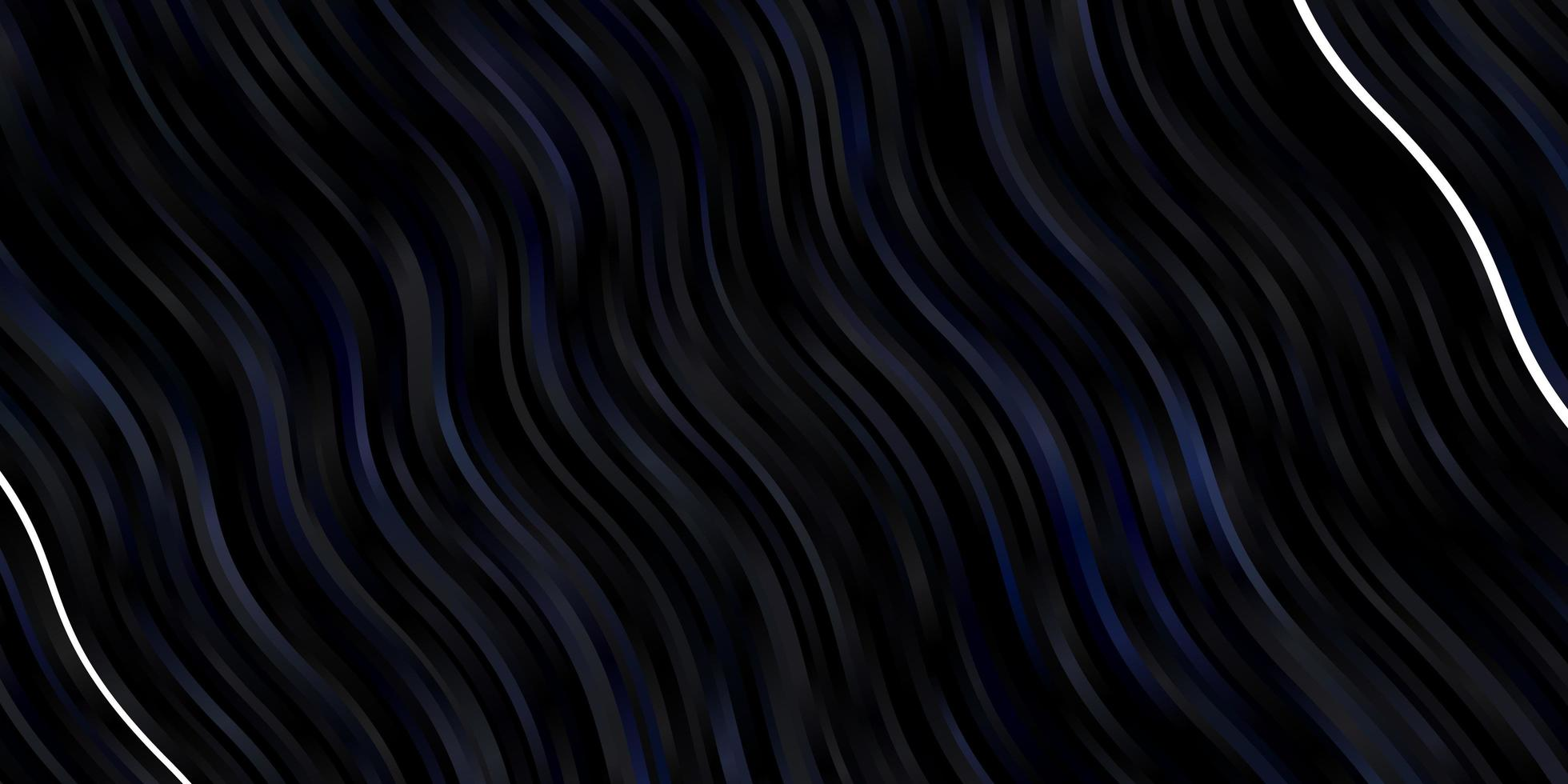 dunkelblauer Vektorhintergrund mit Bögen. vektor