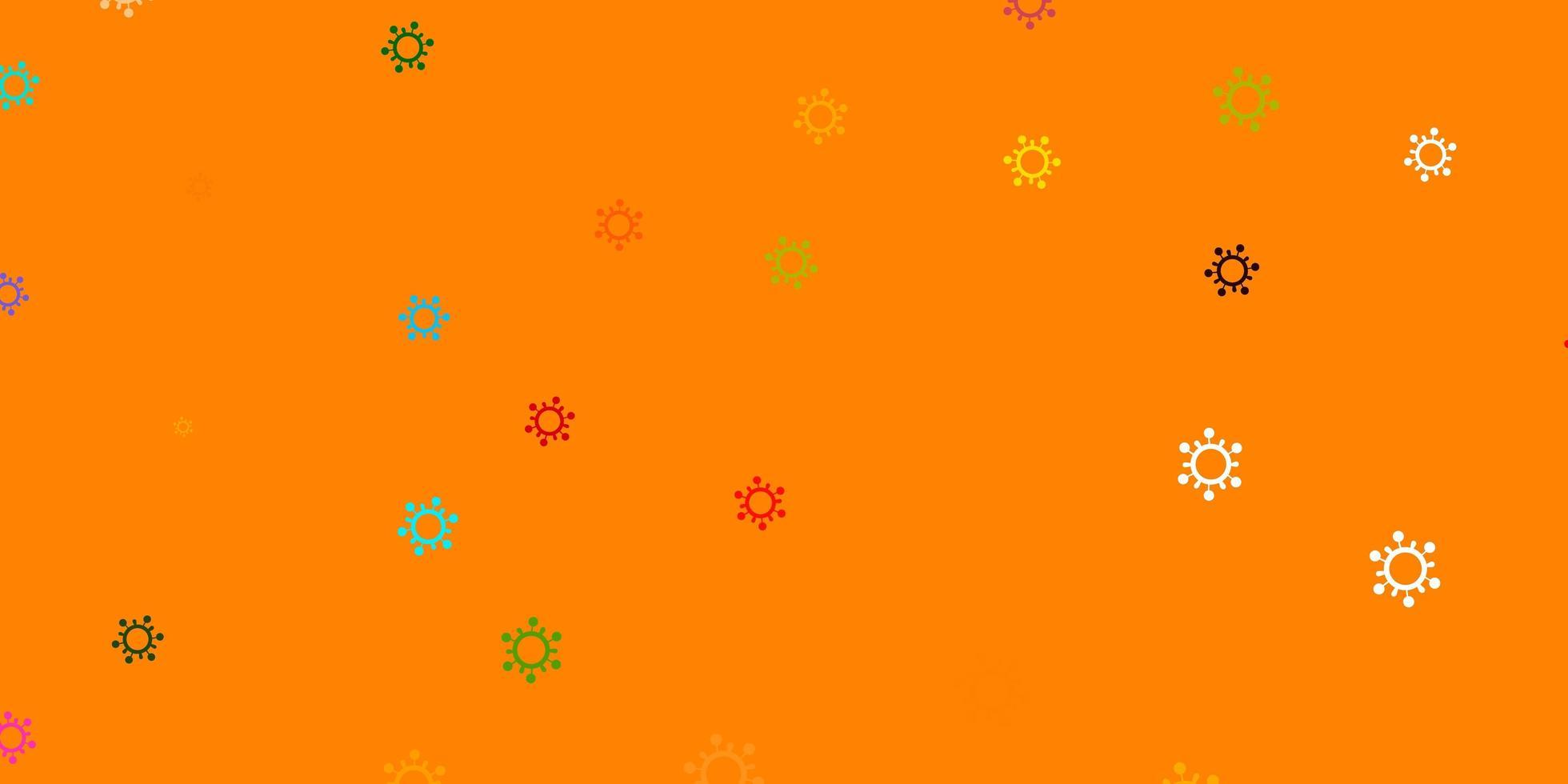 leichte mehrfarbige Vektorschablone mit Grippezeichen vektor