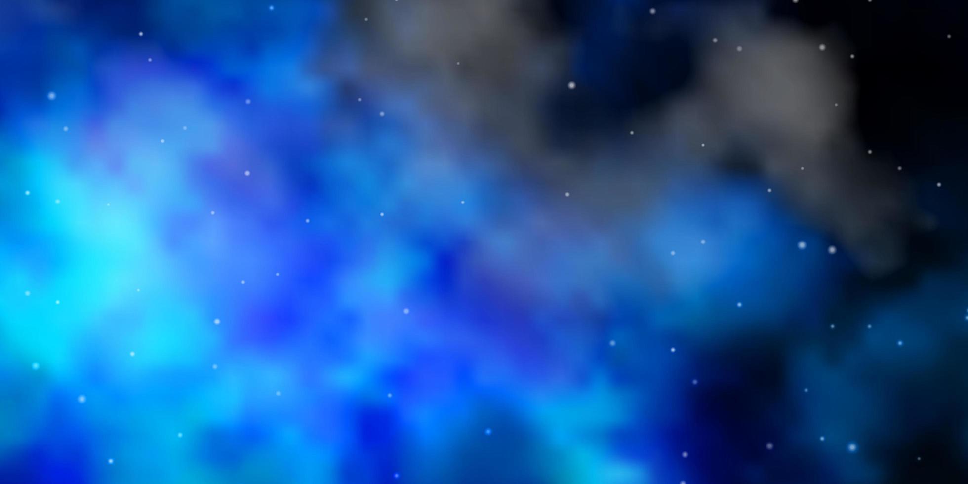 hellblauer Vektorhintergrund mit kleinen und großen Sternen. vektor