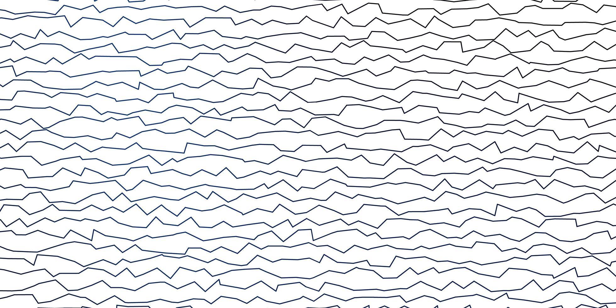 mörkblå vektorbakgrund med böjda linjer vektor
