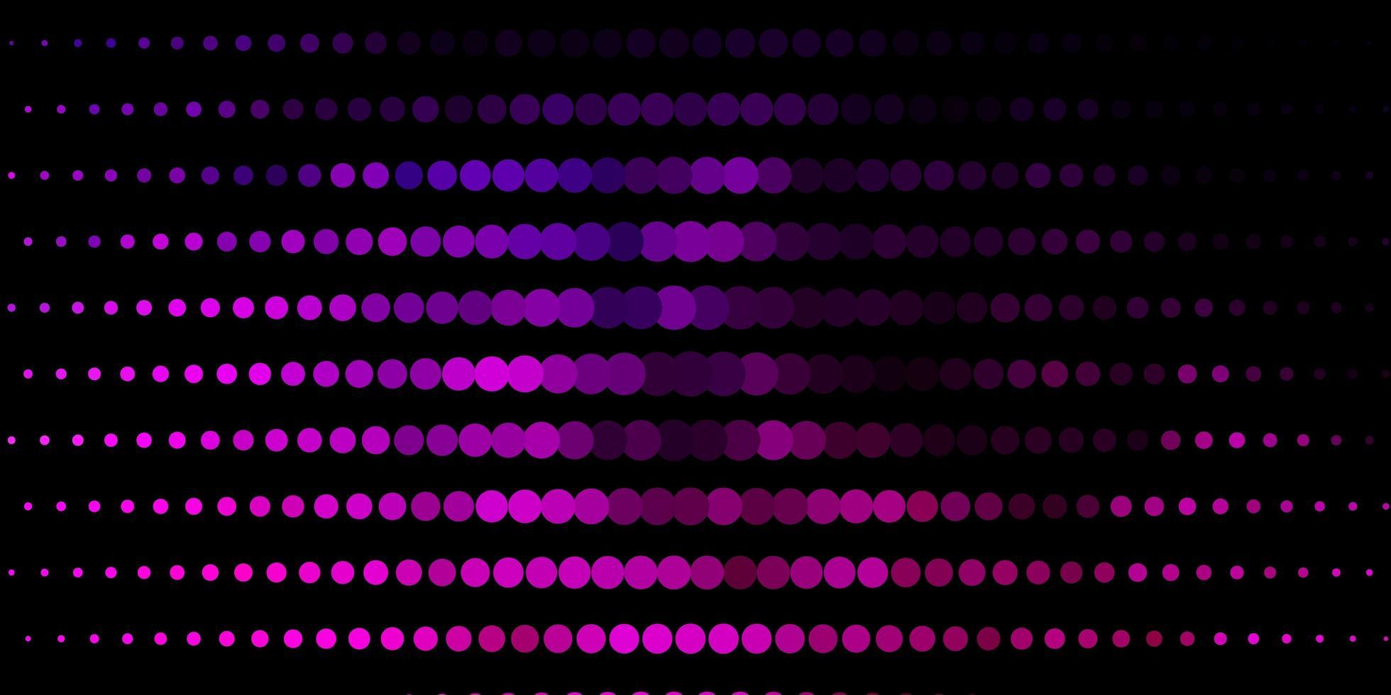 dunkelvioletter, rosa Vektorhintergrund mit Punkten. vektor