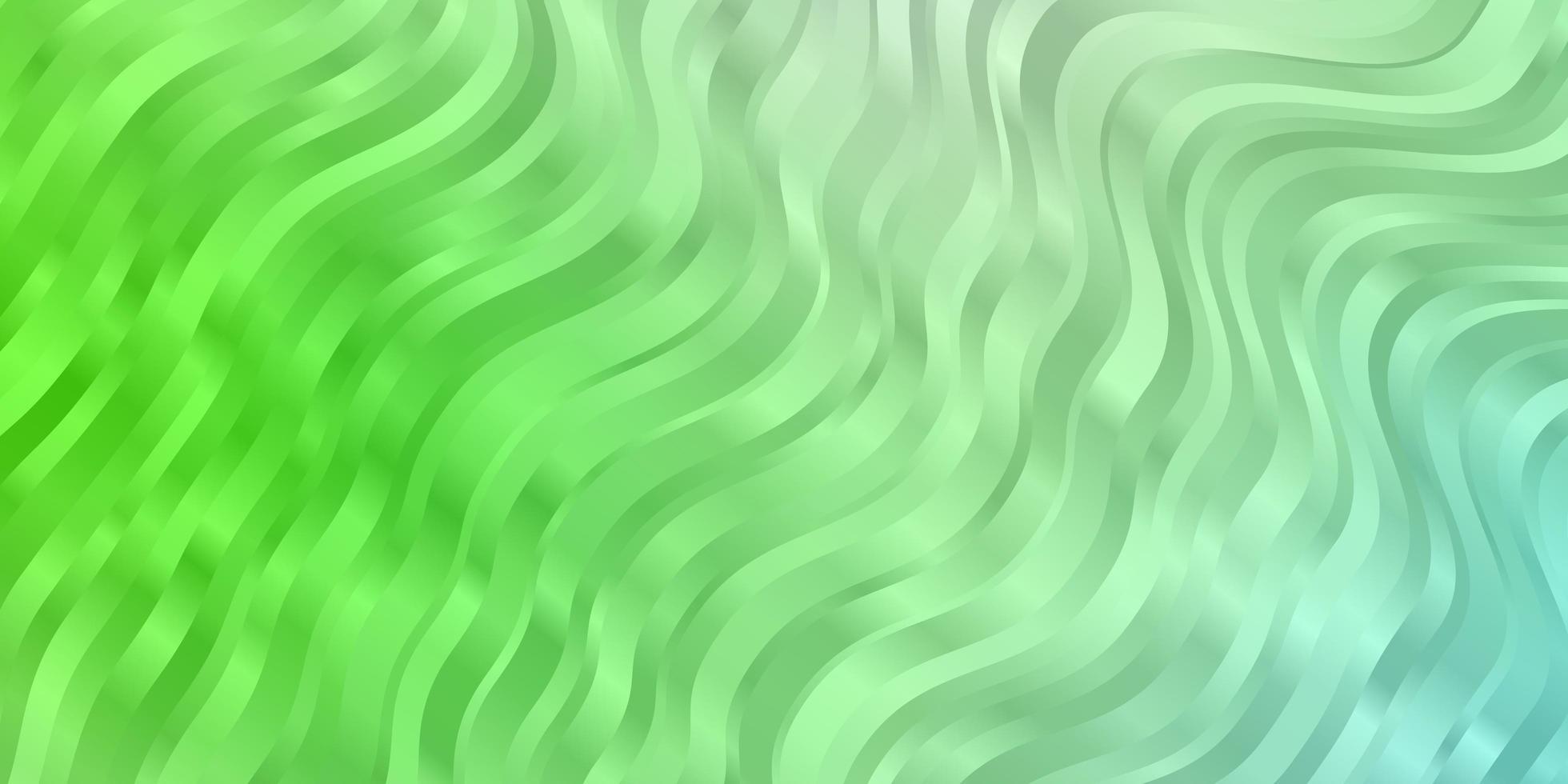 hellgrüner Vektorhintergrund mit Kurven. vektor