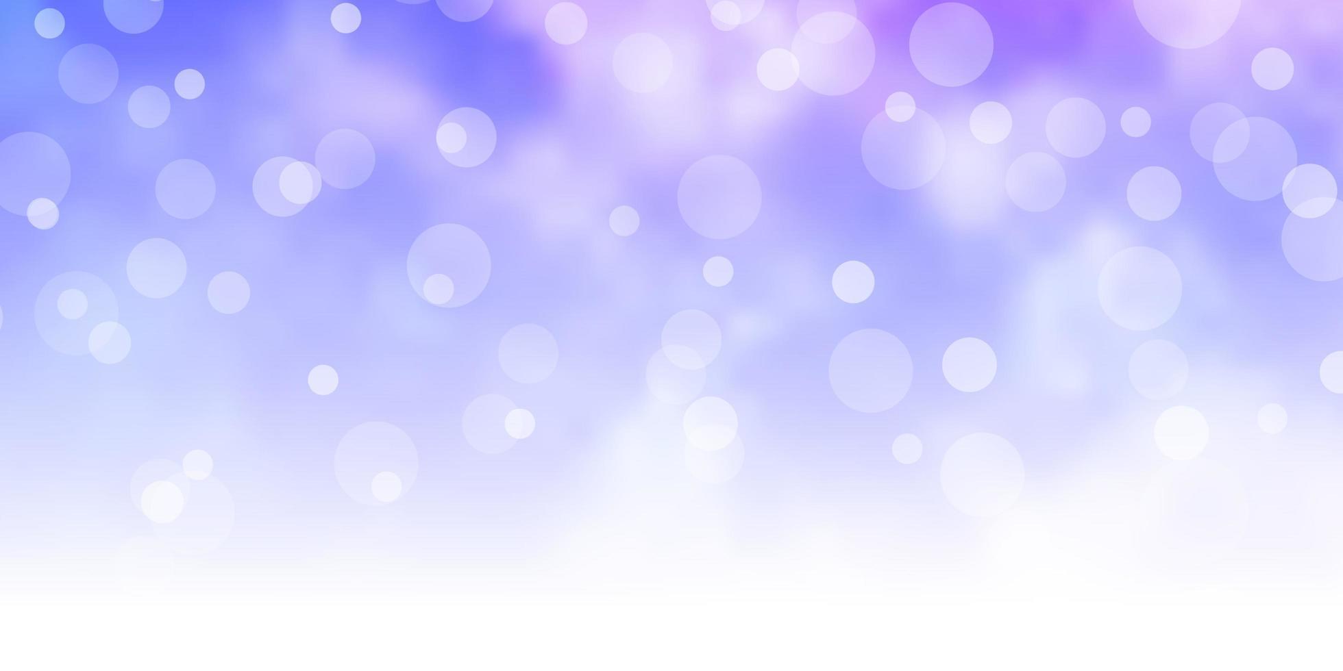 hellrosa, blaue Vektorbeschaffenheit mit Kreisen. vektor