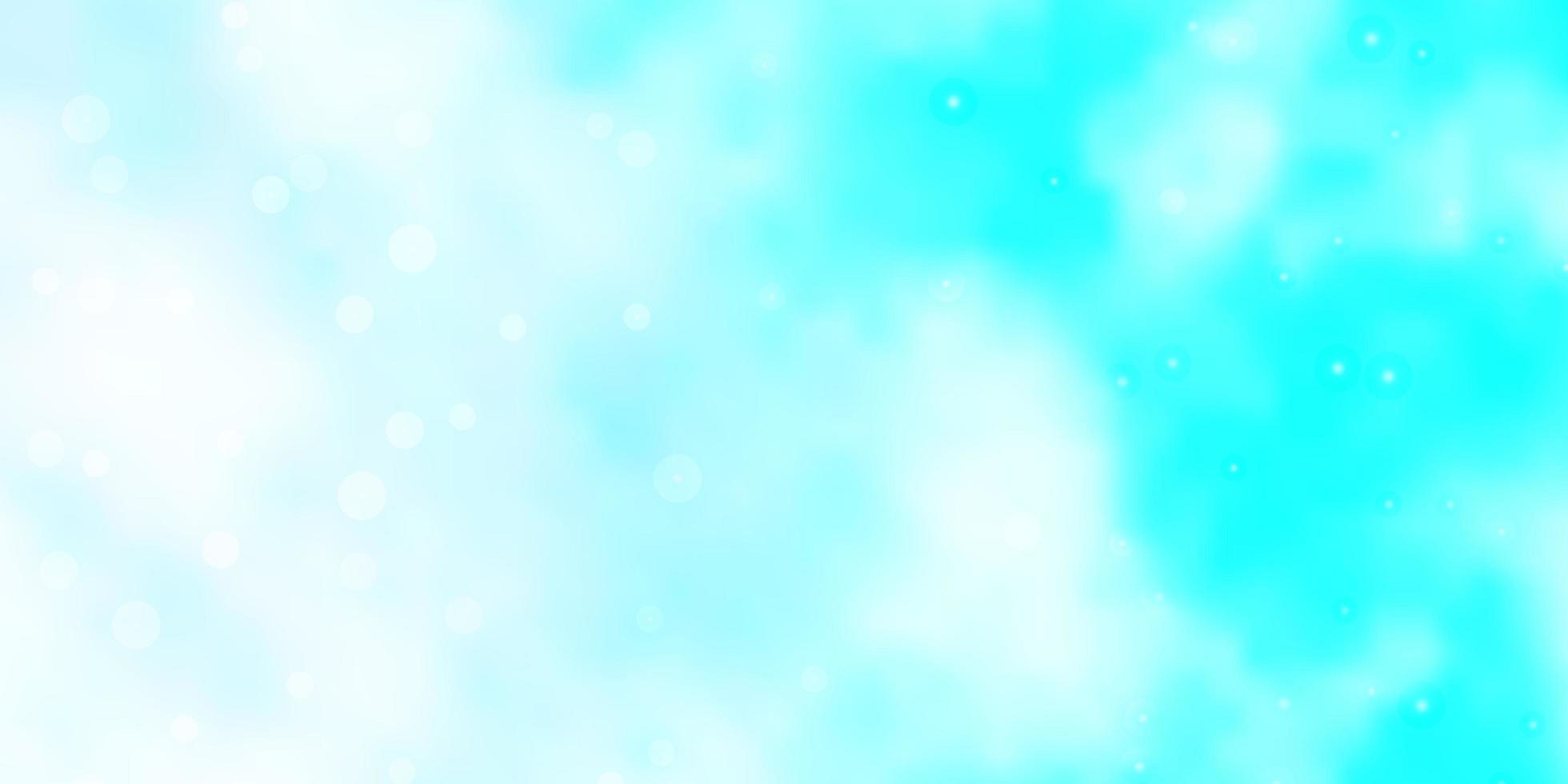 ljusblå vektorbakgrund med små och stora stjärnor. vektor