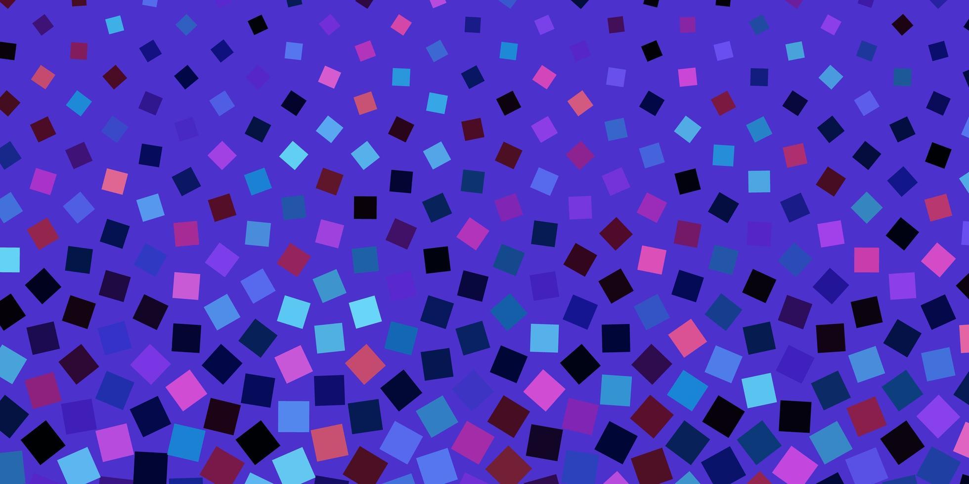 dunkelblaue, rote Vektorschablone mit Rechtecken. vektor