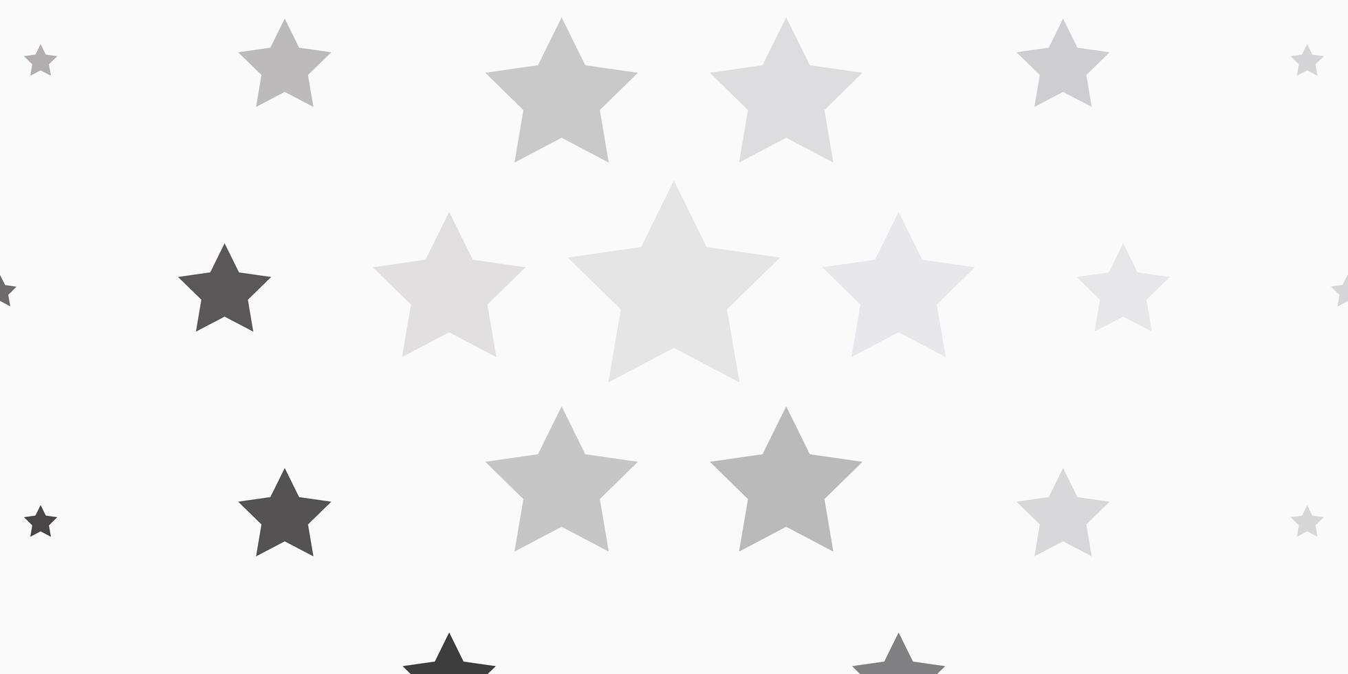 hellgrauer Vektorhintergrund mit bunten Sternen. vektor