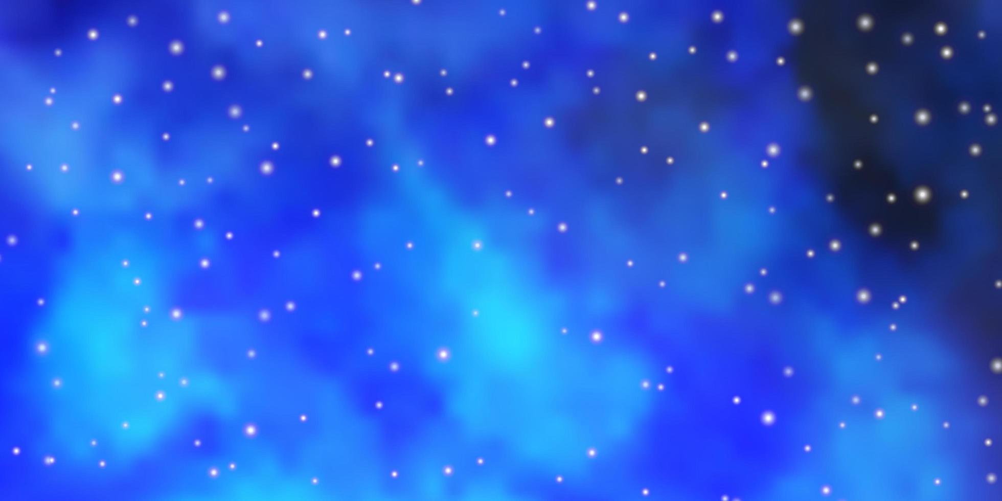 ljusblå vektor konsistens med vackra stjärnor.