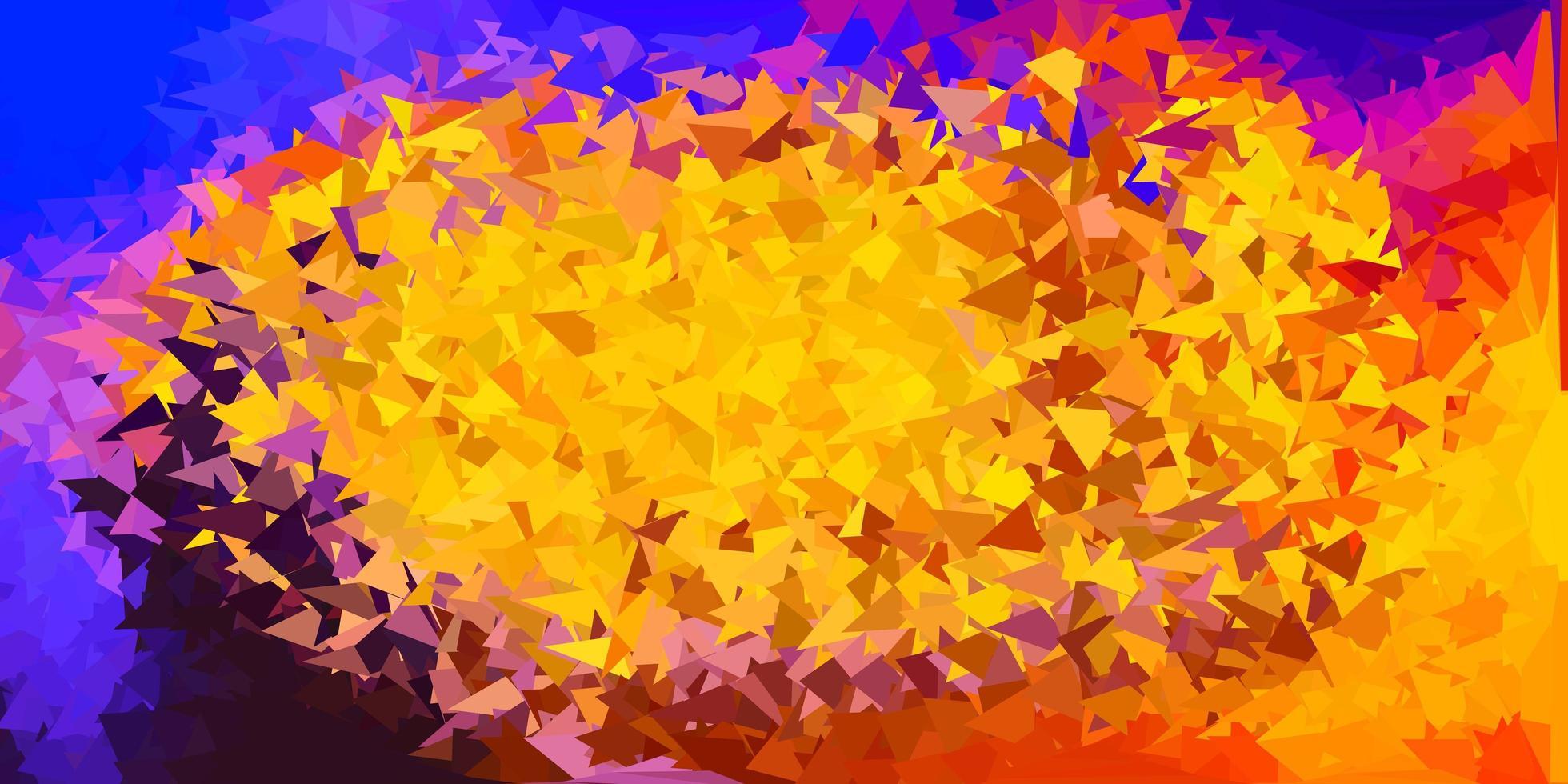 hellblaue, rote Vektor abstrakte Dreiecksschablone.
