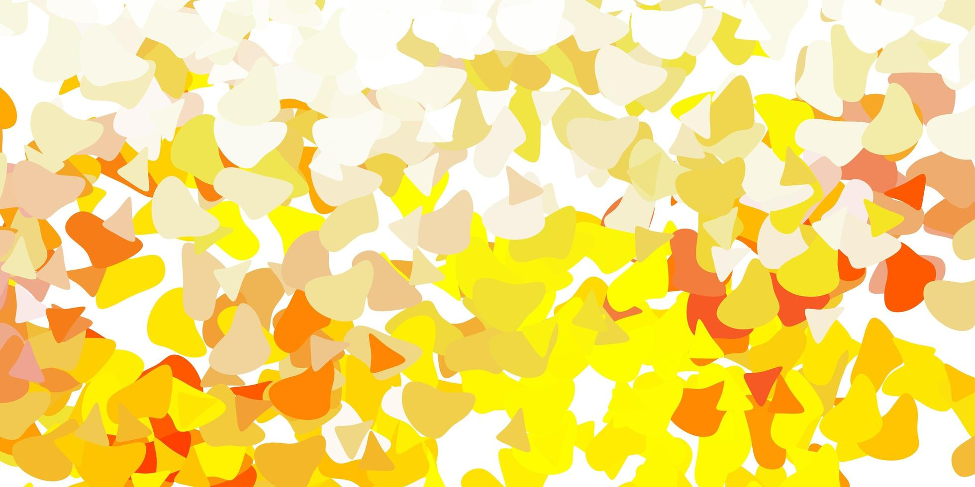 ljusgul bakgrund med kaotiska former. vektor
