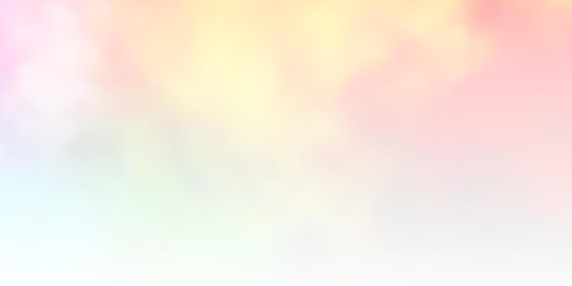 ljus flerfärgad bakgrund med cumulus. vektor