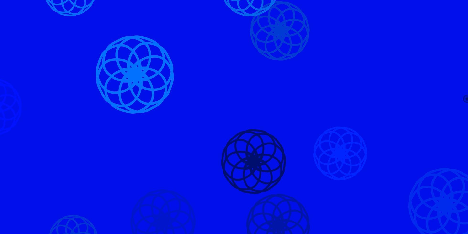 ljusblå vektormall med cirklar vektor