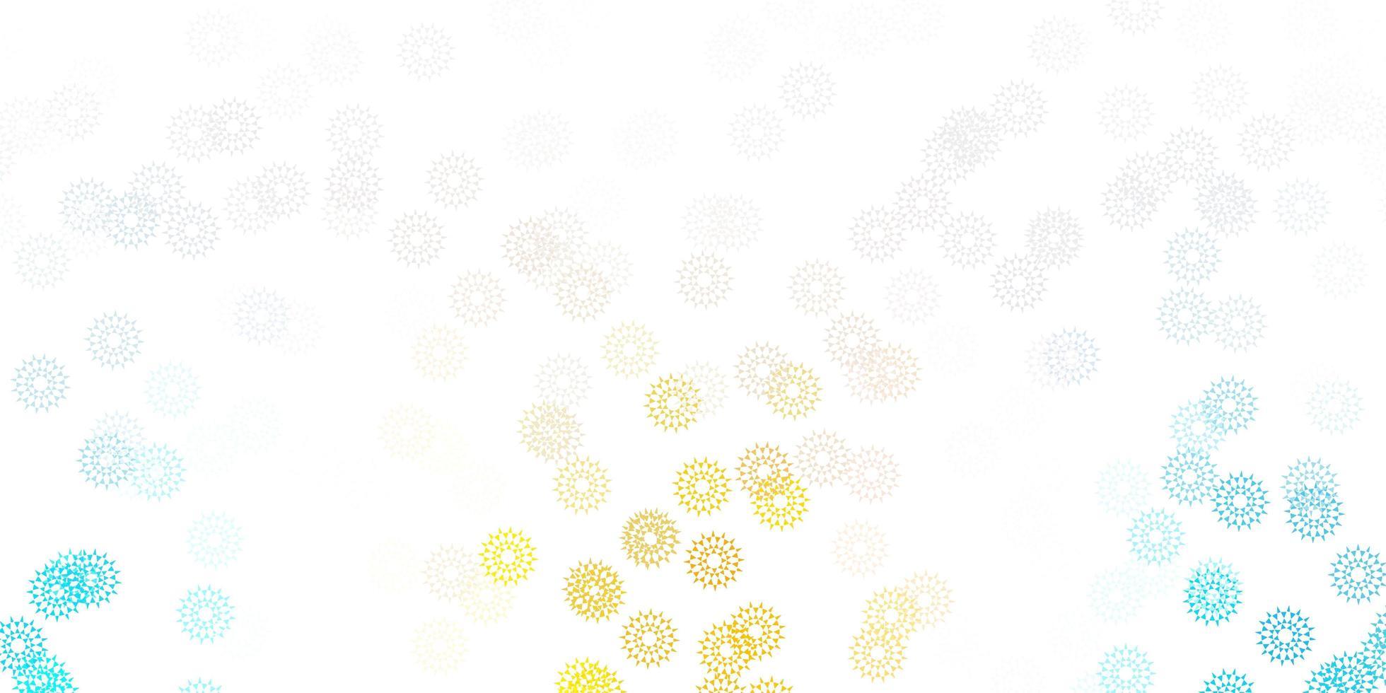 natürliche Kunst des hellblauen, gelben Vektors mit Blumen. vektor