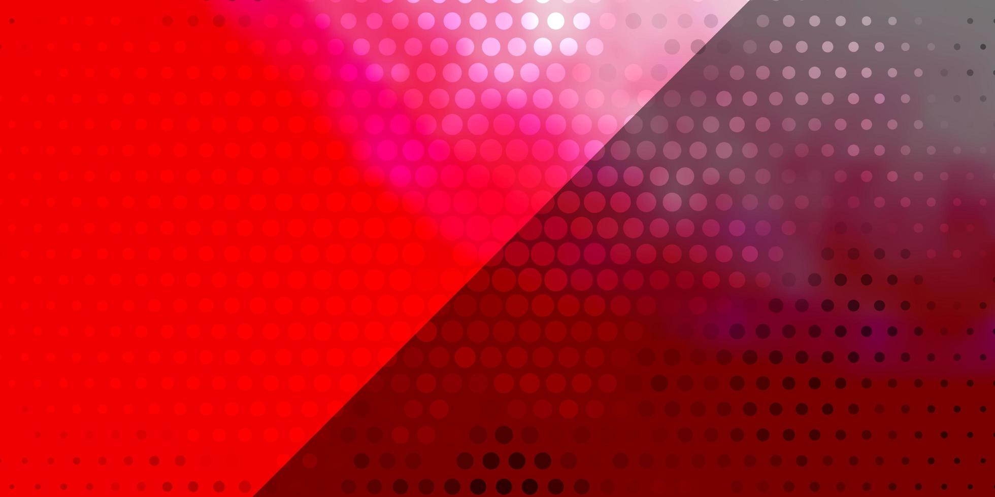 ljusröd vektorbakgrund med cirklar. vektor
