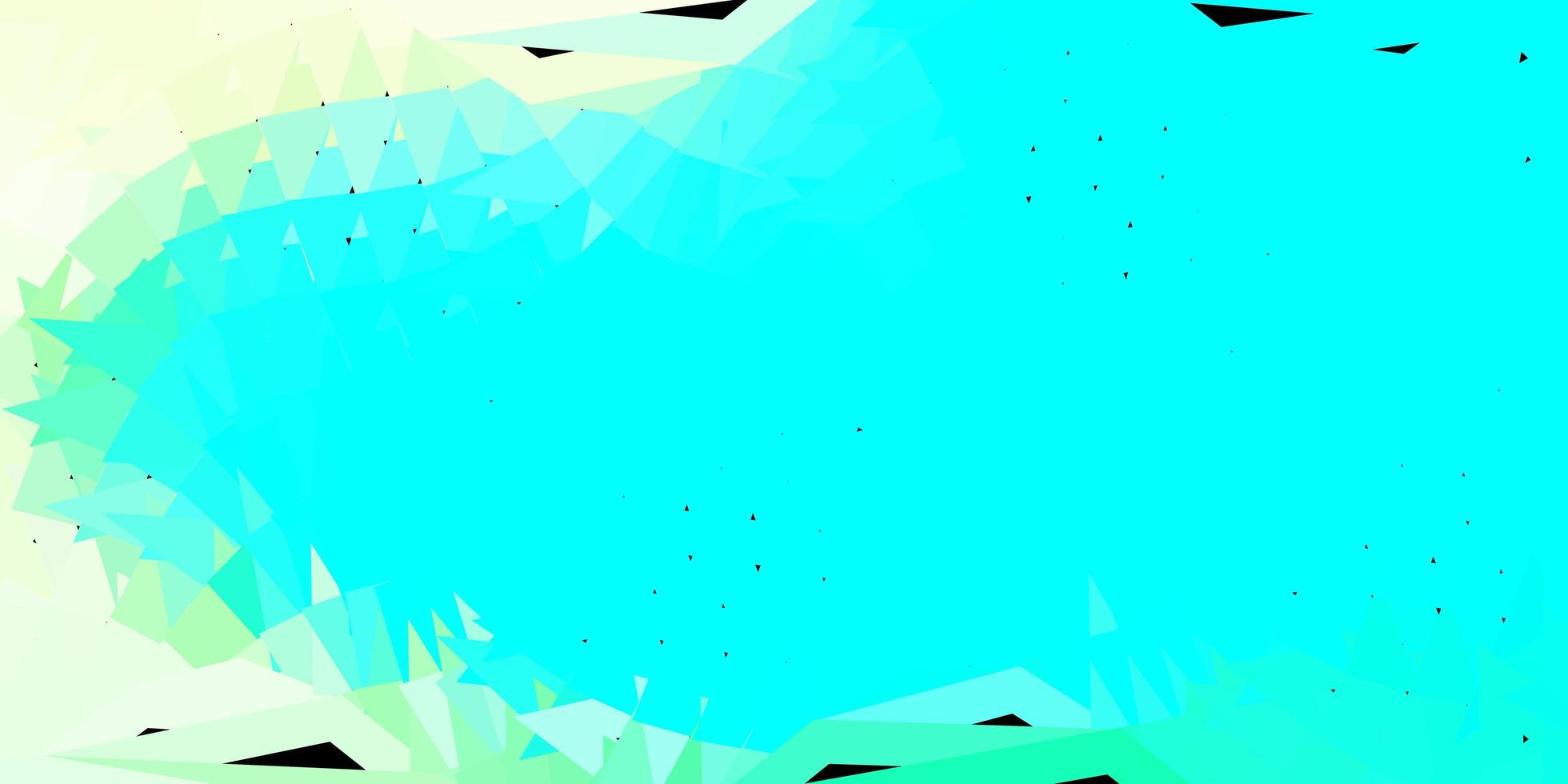ljusblått, grönt vektorabstrakt triangelmönster. vektor