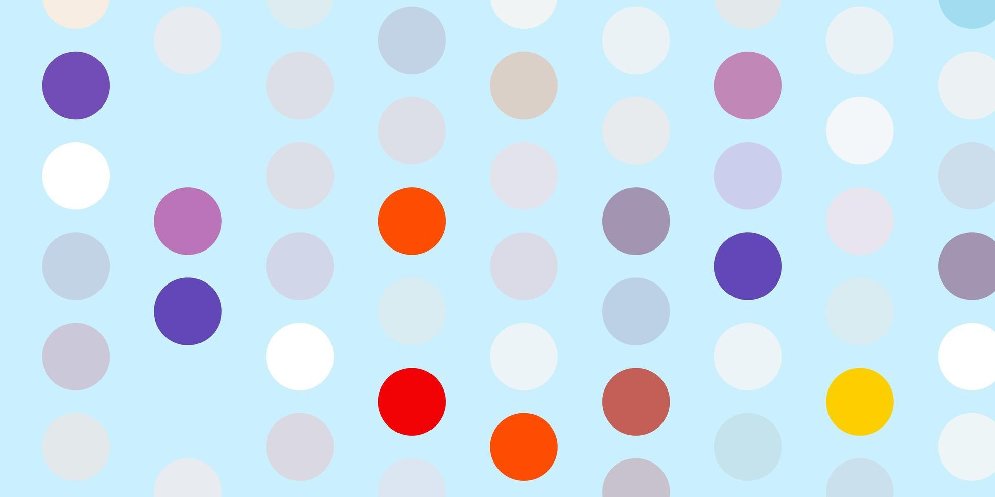 ljusblå, röd vektormall med cirklar. vektor