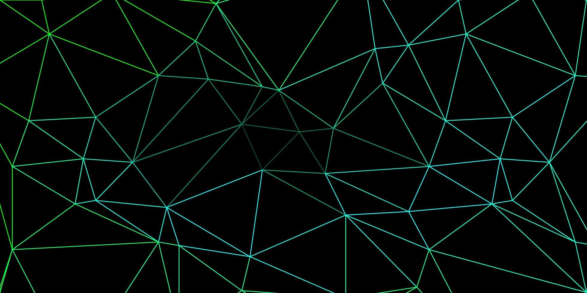 ljusgrön vektor triangel mosaik mall.