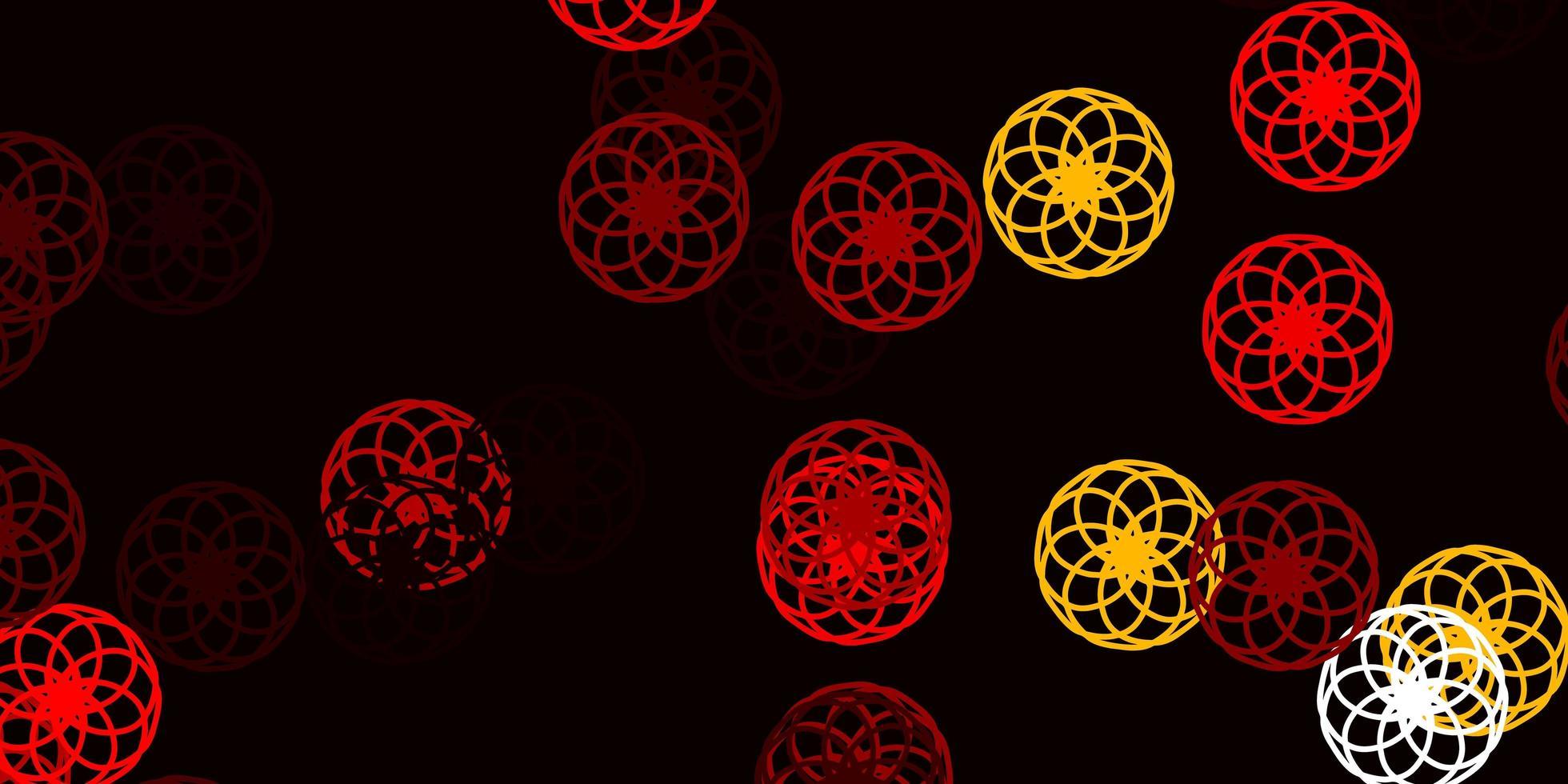 ljusröd, gul vektorbakgrund med prickar. vektor