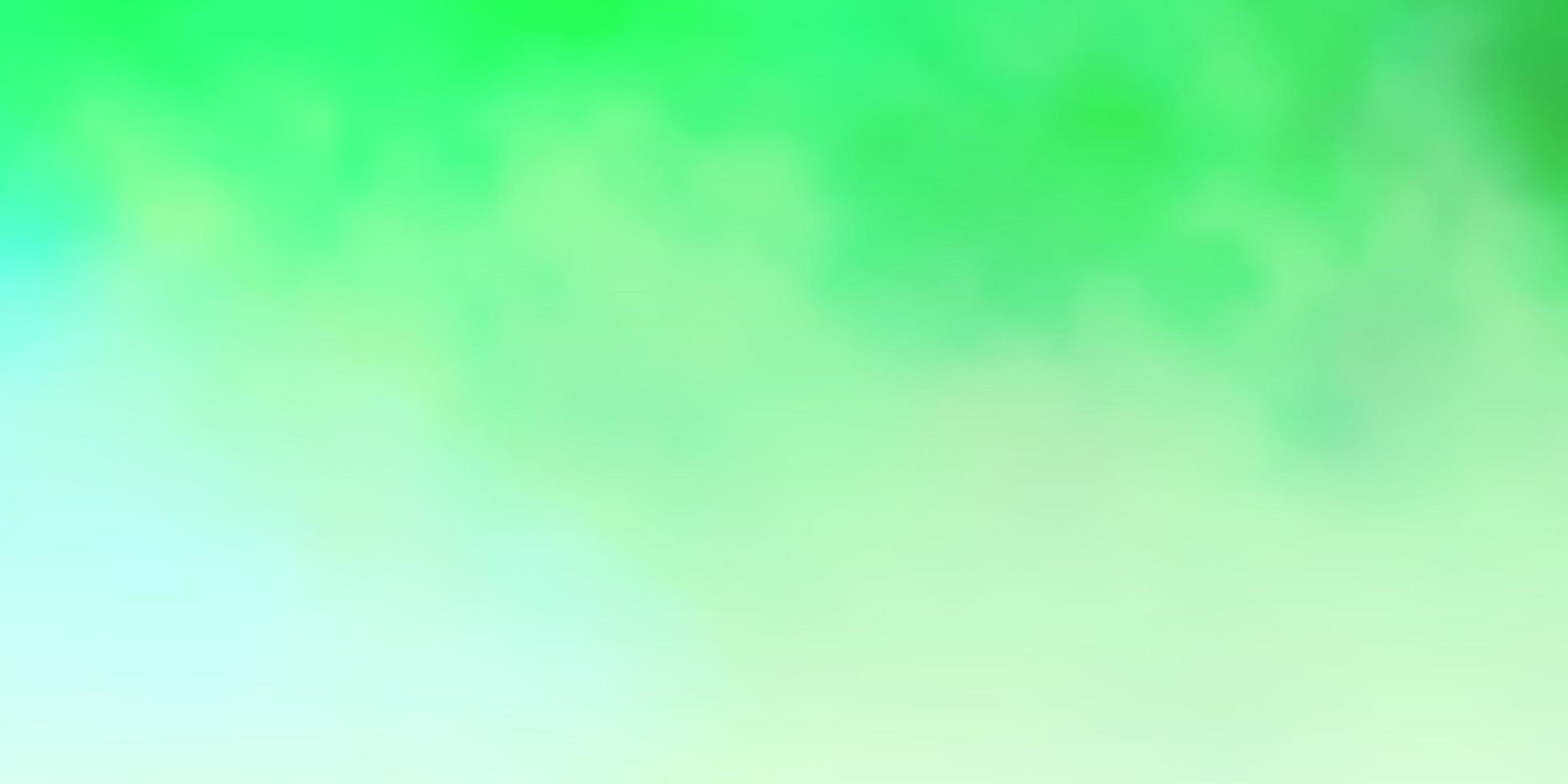 ljusgrön vektorlayout med molnlandskap. vektor