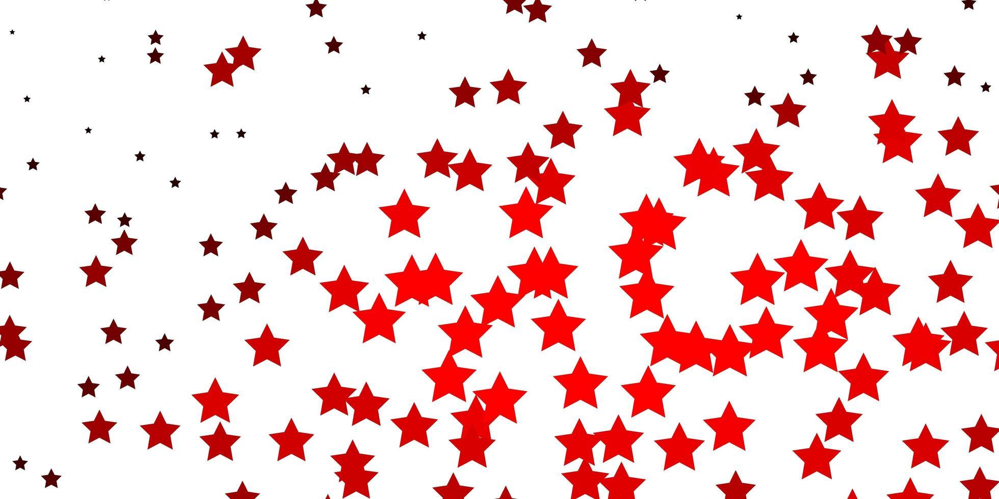 mörk röd vektor bakgrund med små och stora stjärnor