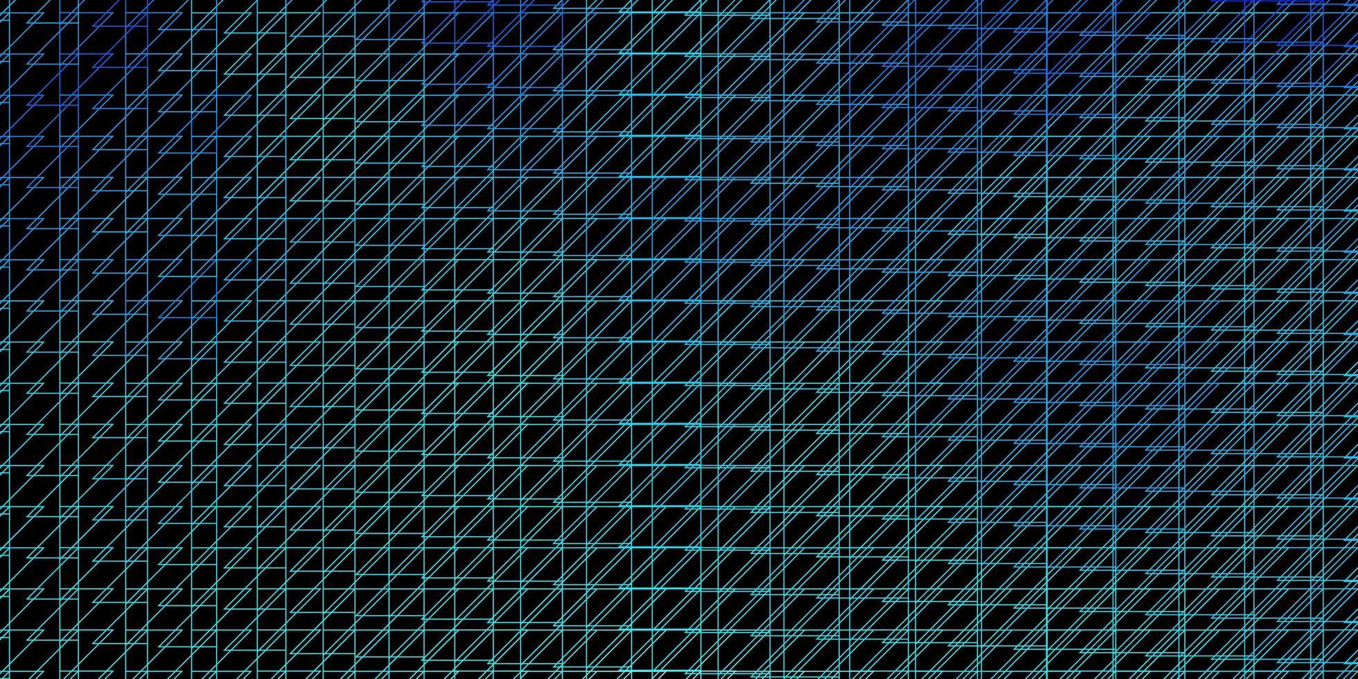 mörkblå vektormönster med linjer. vektor