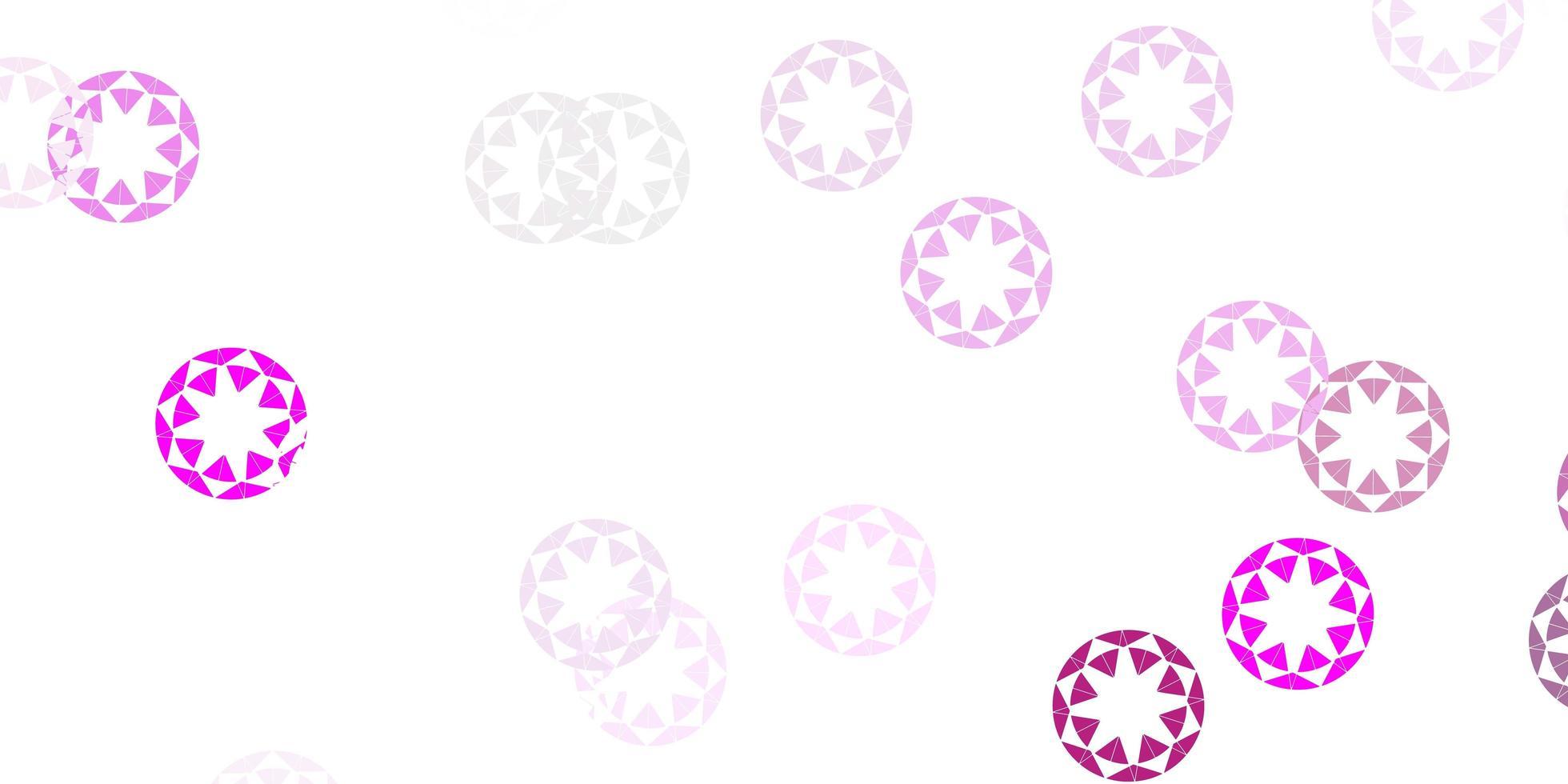 ljusrosa vektorlayout med cirkelformer. vektor
