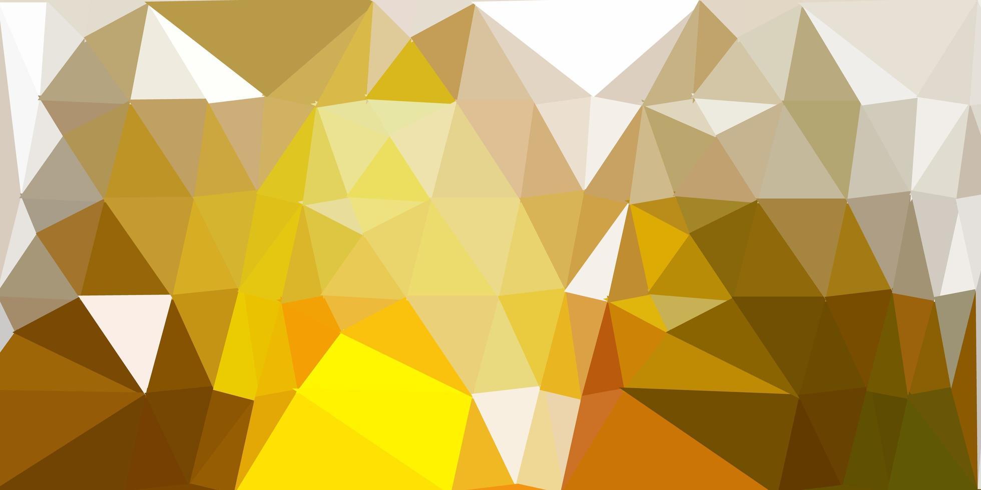 geometrisches polygonales Layout des dunkelgrünen, gelben Vektors. vektor