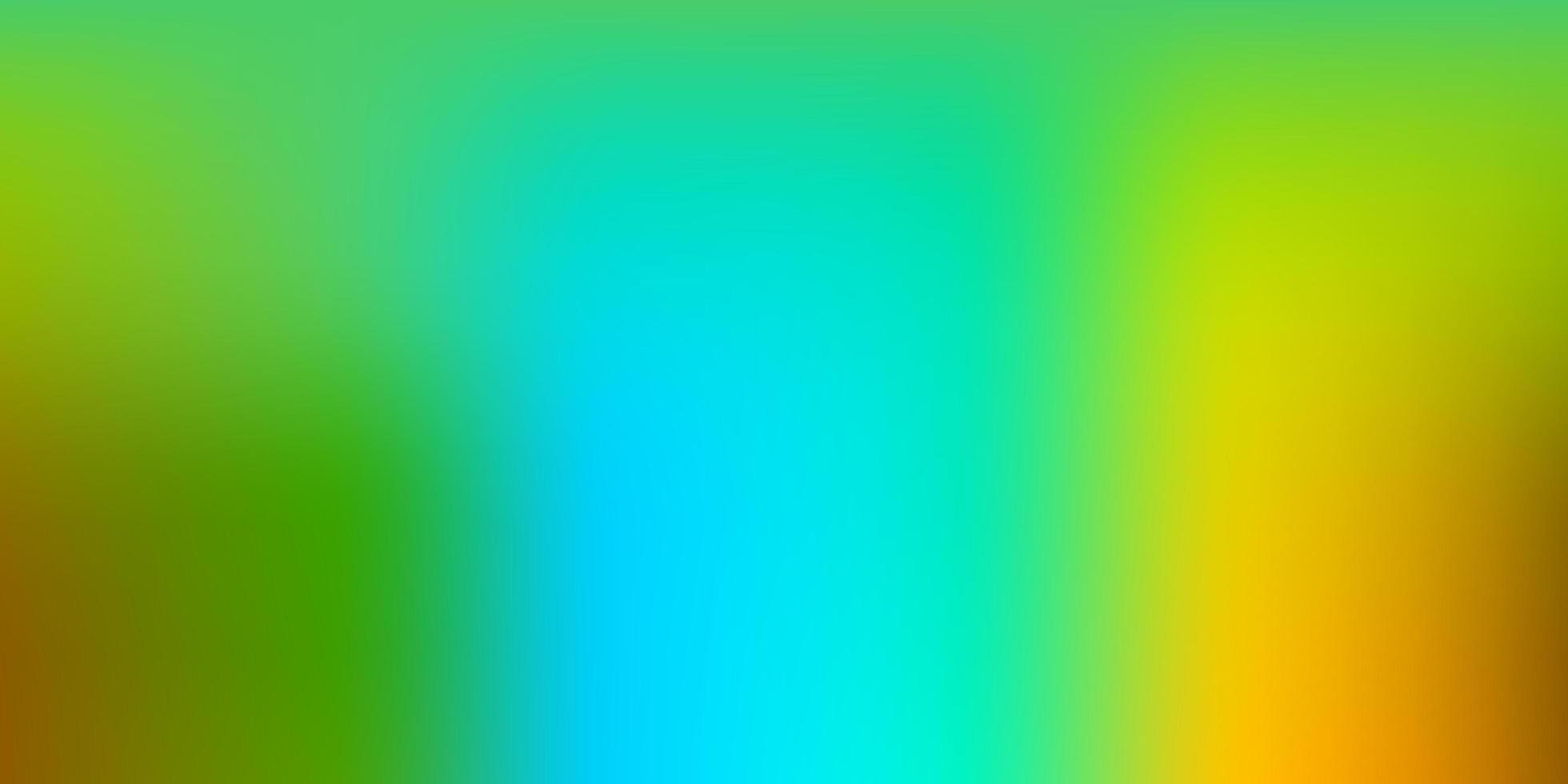 ljusblå, gul vektor abstrakt oskärpa ritning.