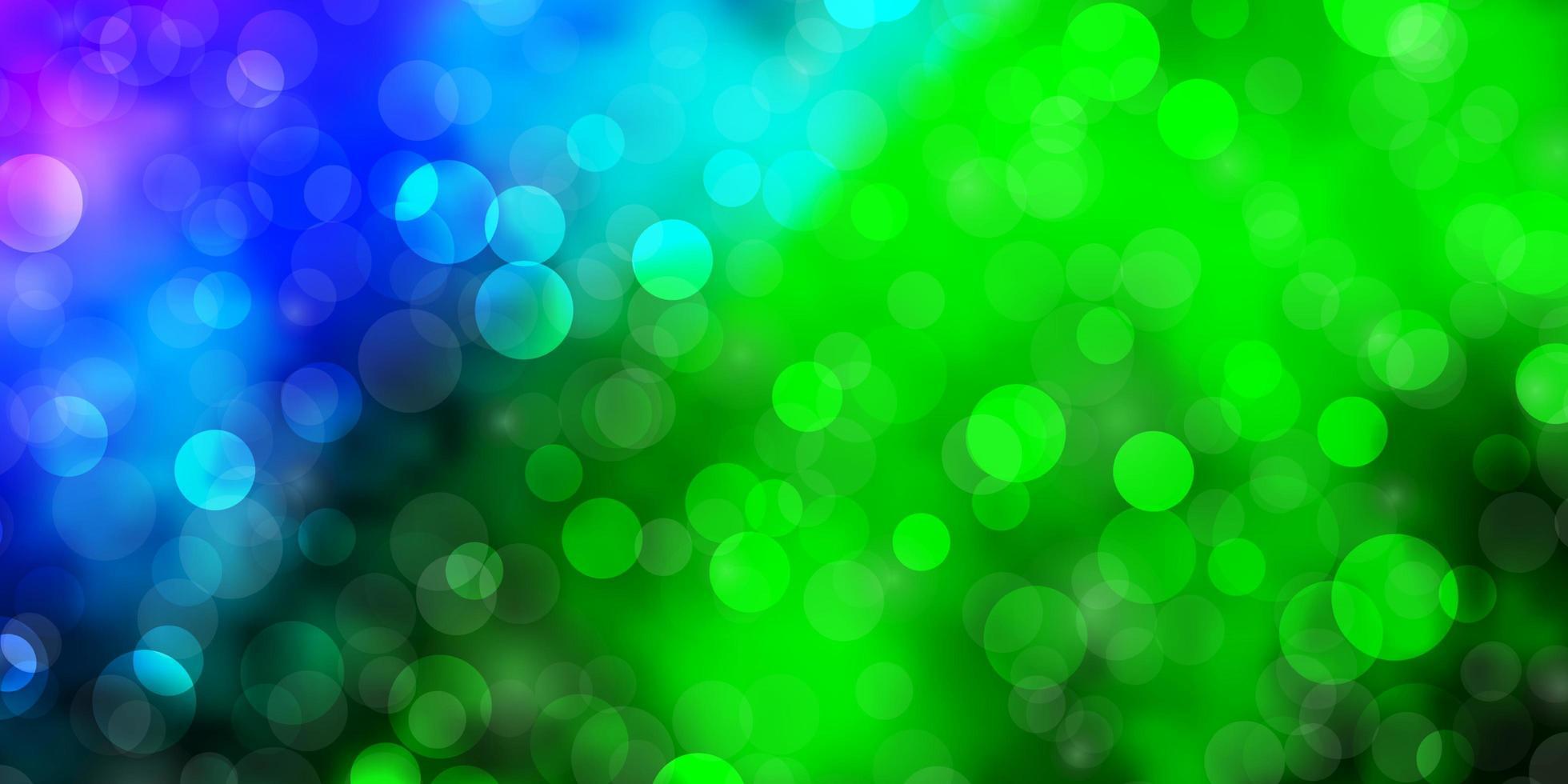 hellrosa, grüne Vektorschablone mit Kreisen. vektor