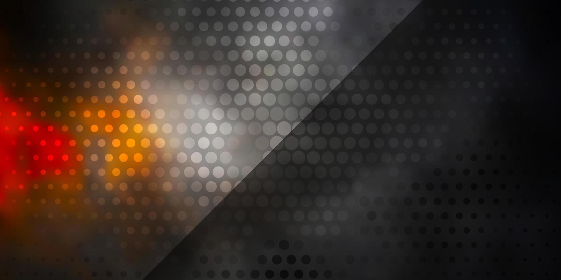 mörk gul vektor layout med cirklar.