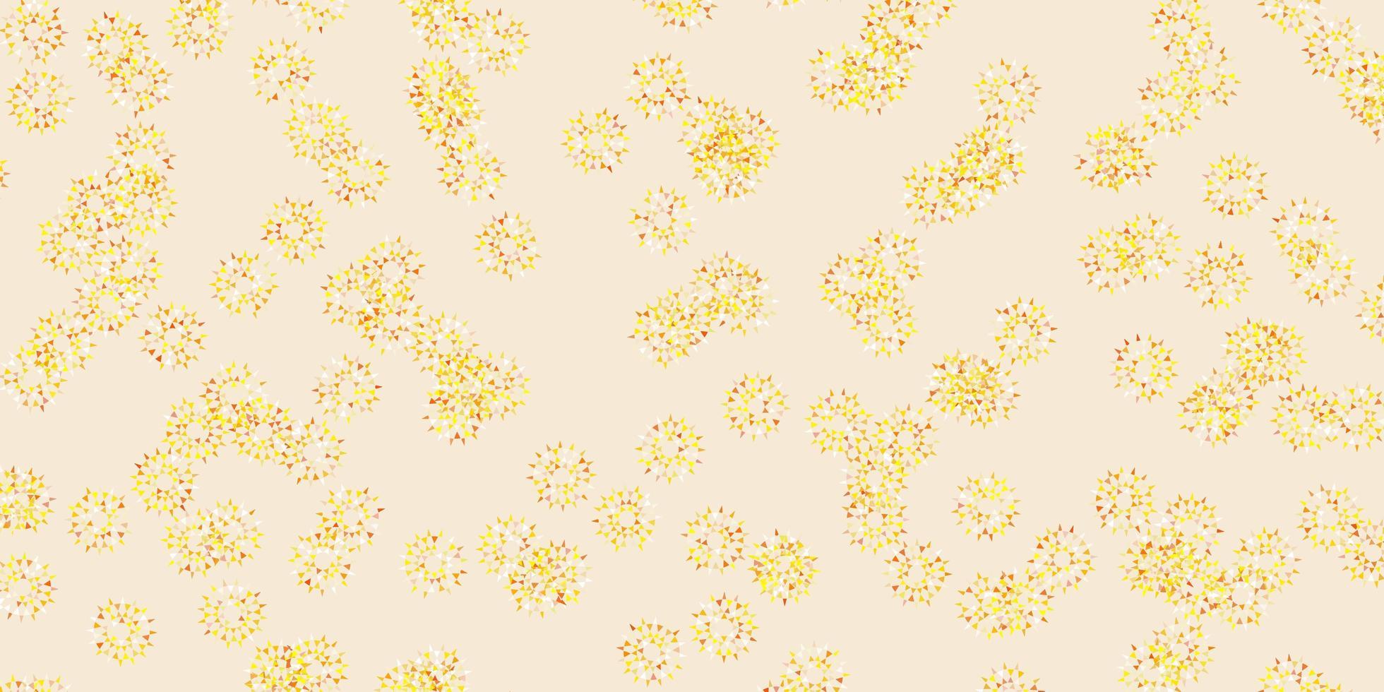 ljus gul vektor naturlig layout med blommor.
