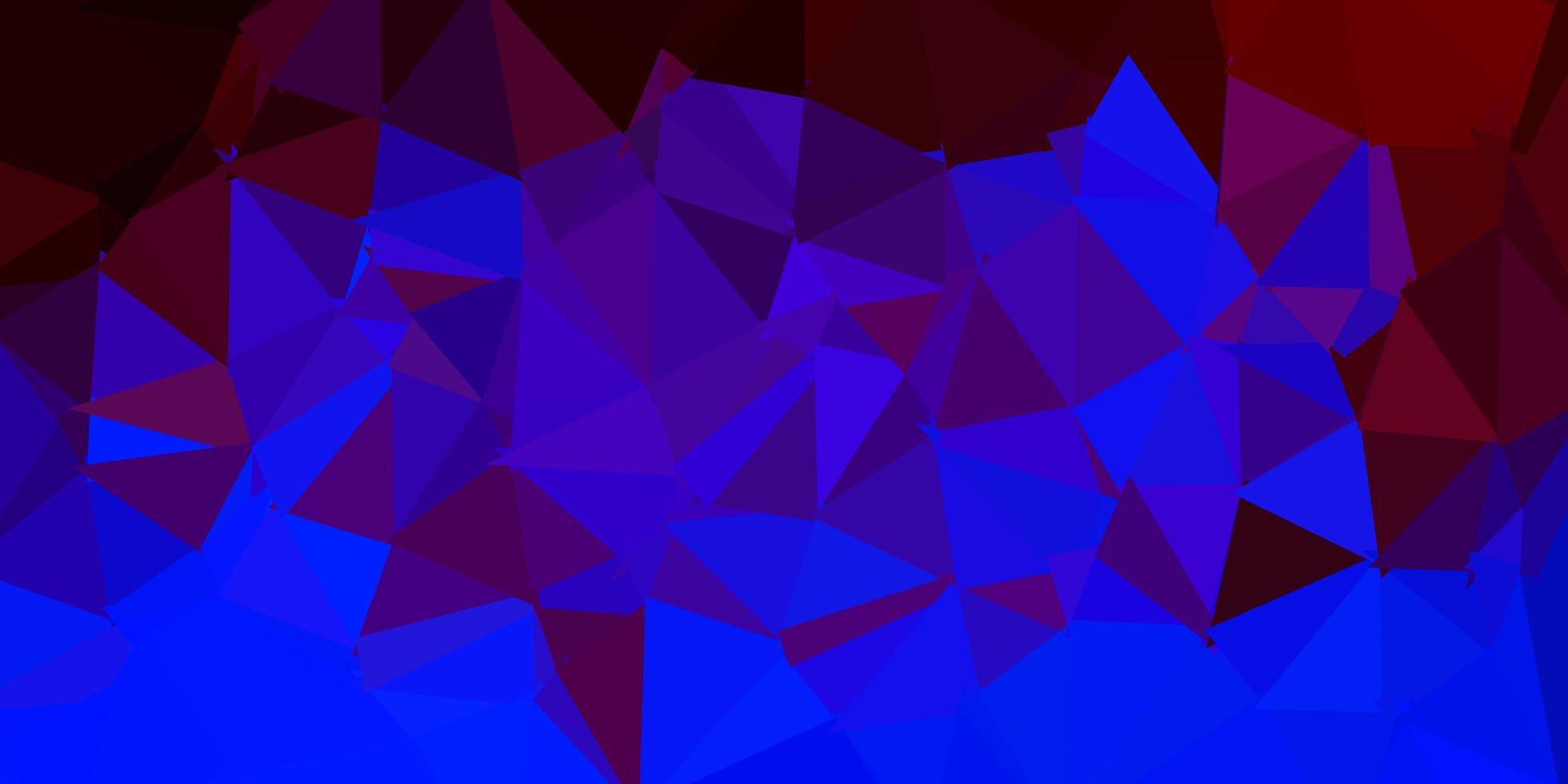 mörkblå, röd vektor abstrakt triangelmall.
