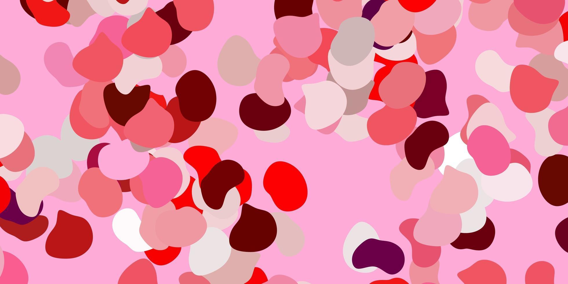 ljusrosa, röd vektorbakgrund med slumpmässiga former. vektor
