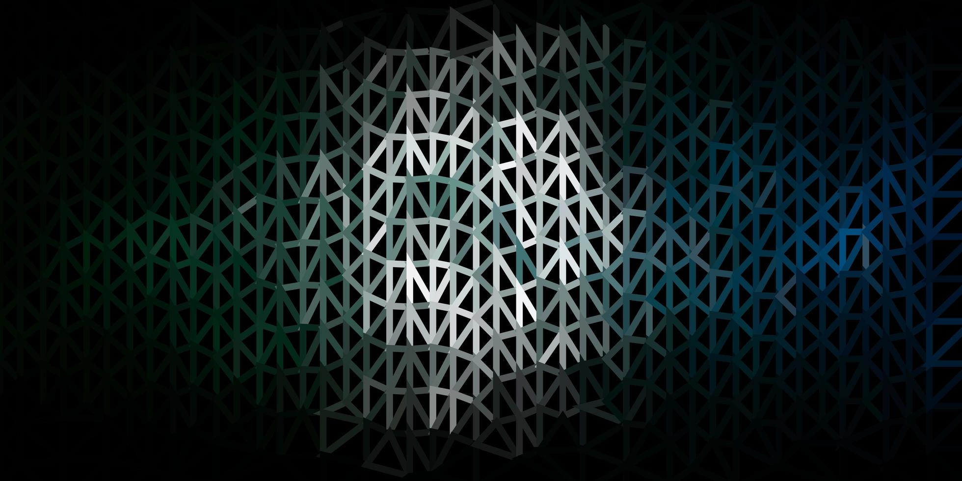 dunkelgrüner Vektor-Dreieck-Mosaik-Hintergrund. vektor